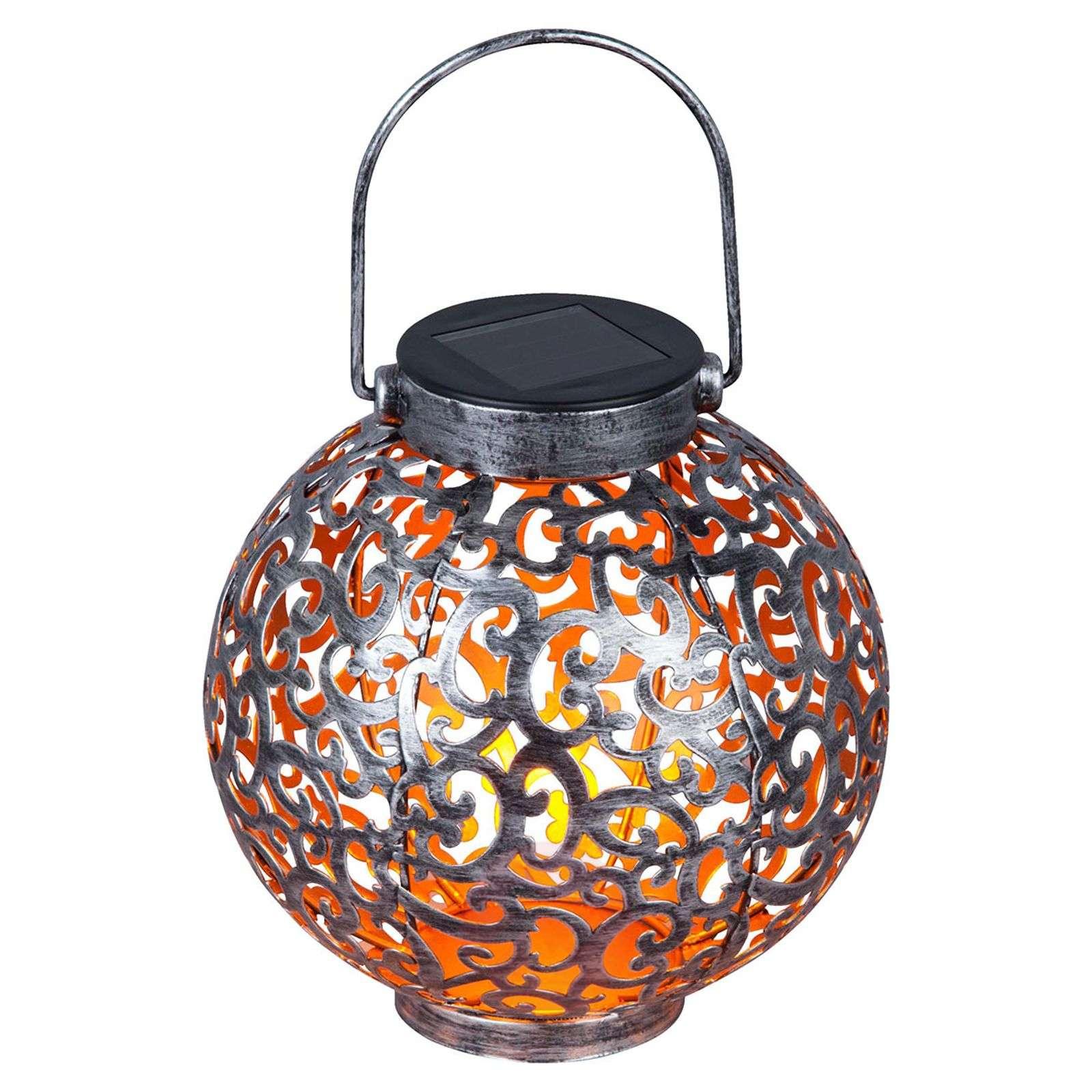 Aurinkok. LED-lyhty Adriano, ornamenttikuvio hopea-9945357-01