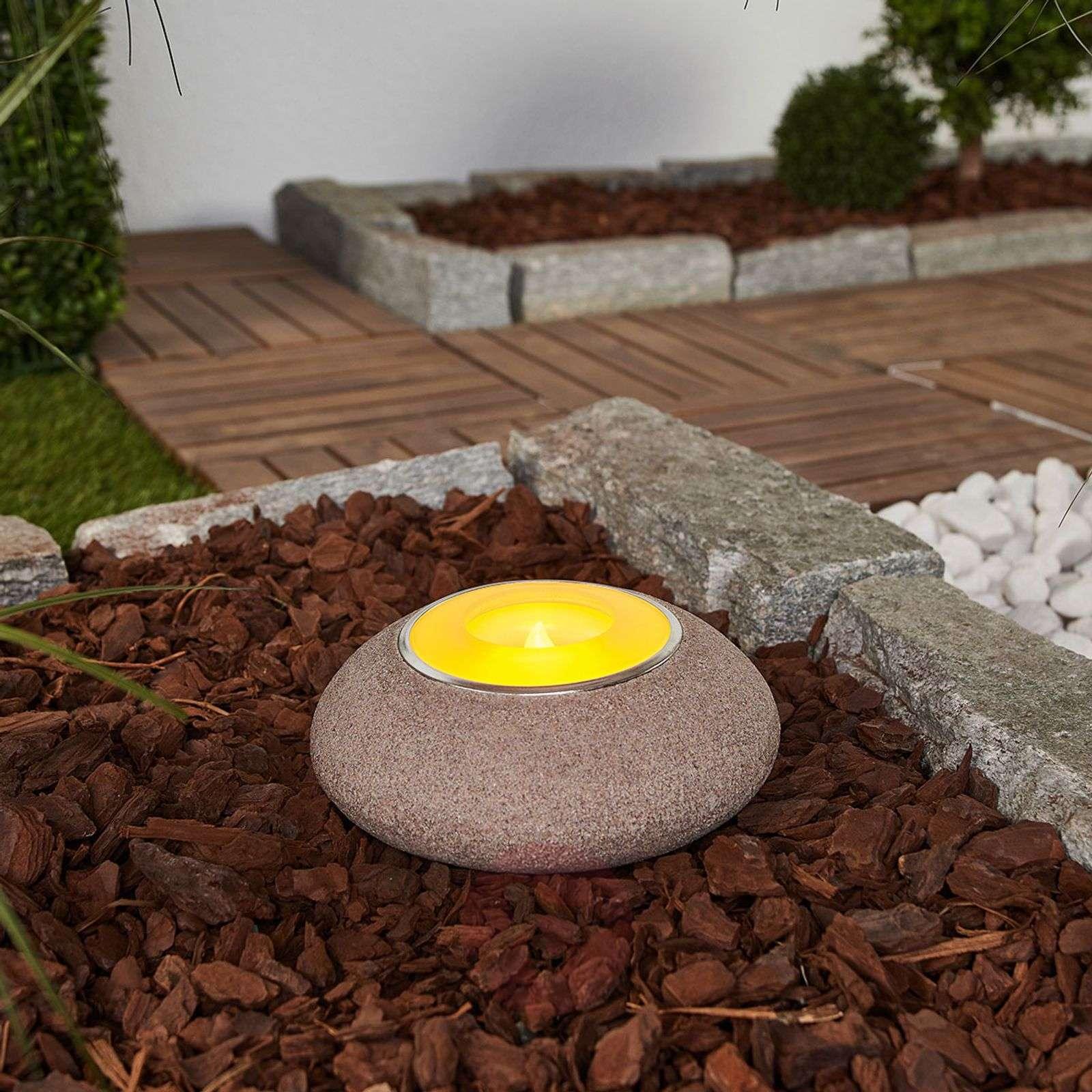 Aurinkokäyt. LED-lämpökynttilä Shivani, polyhartsi-9945273-01
