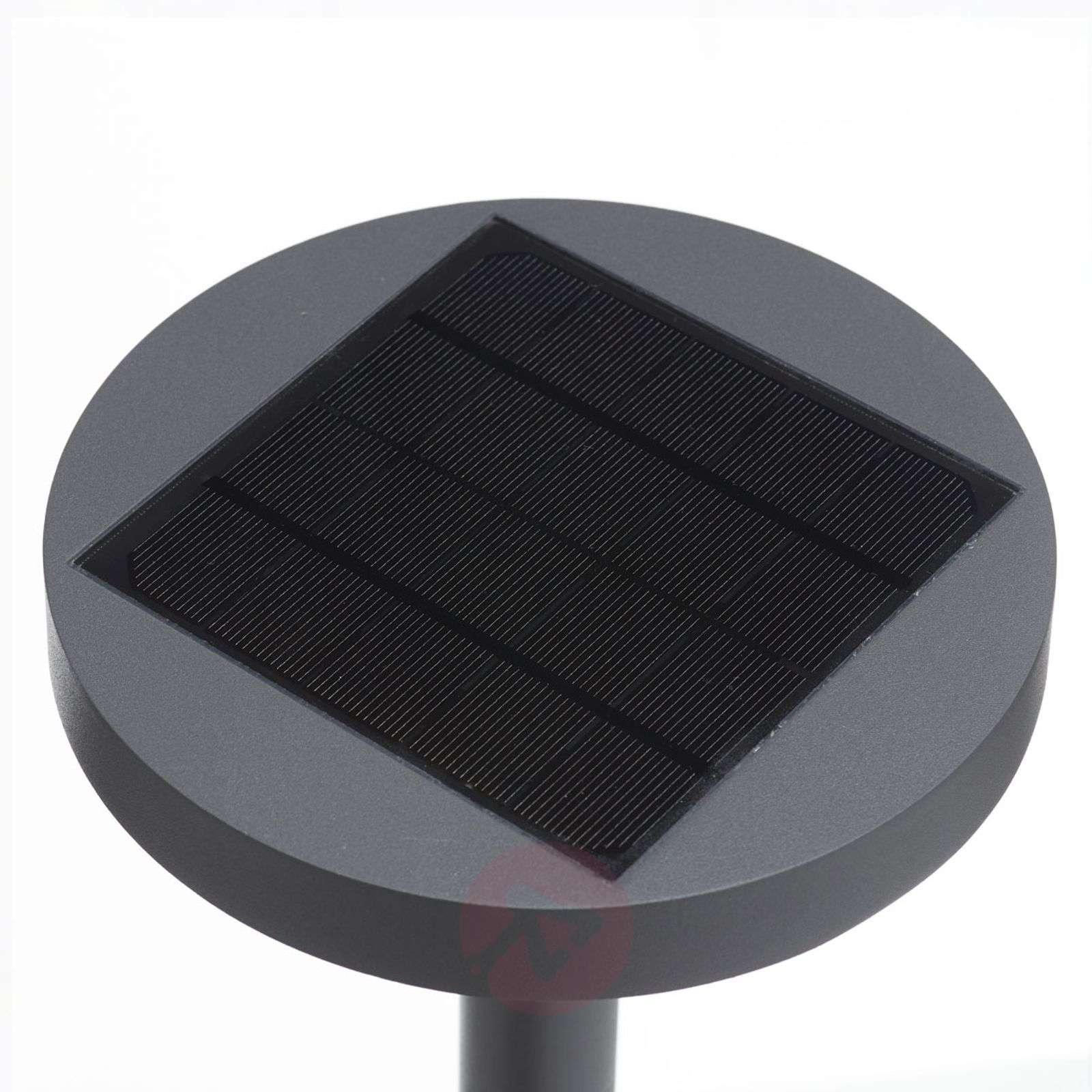 Aurinkokäyt. LED-pylväsvalo Linja pyöreä t.harmaa-9616154-02