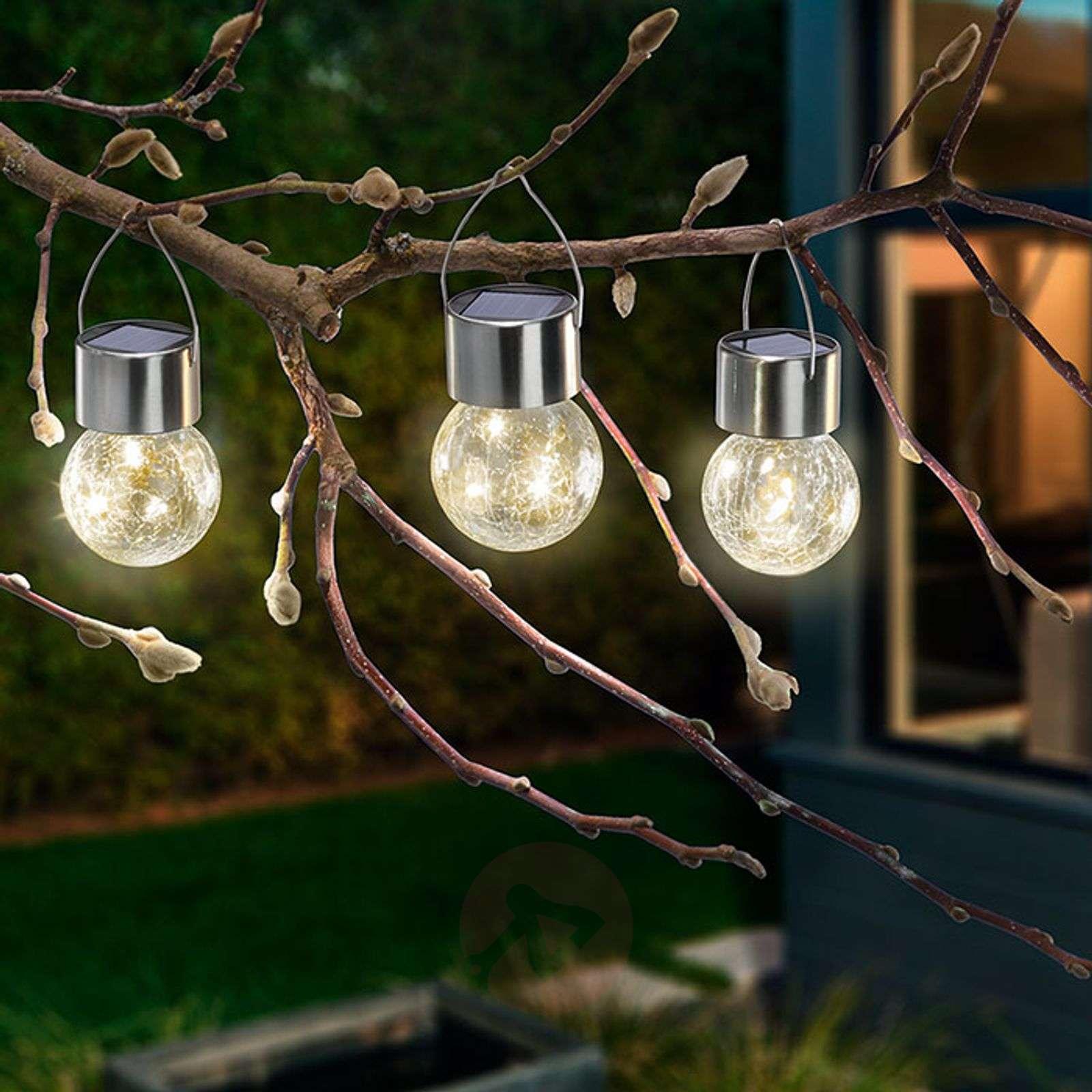 Aurinkokäytt. LED-lamppu Crackle Ball 3 kpl 3000K-3012570-01
