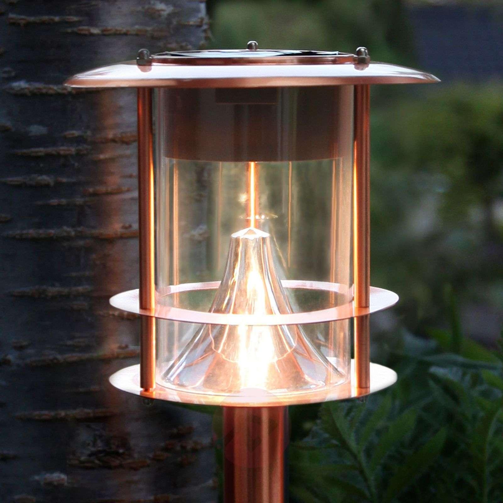 Aurinkokäyttöinen Juno-pylväsvalaisin, kupari, LED-1522972-01