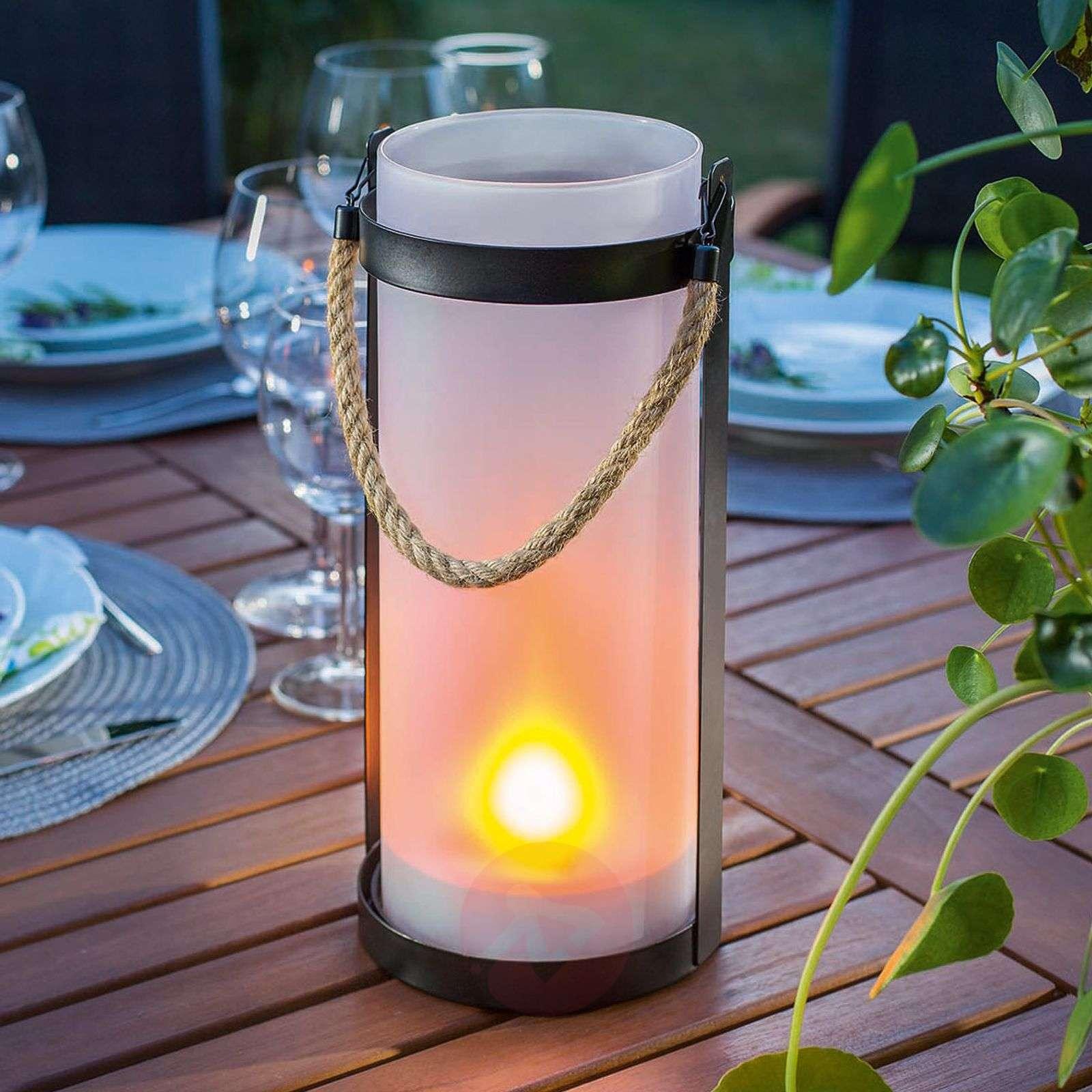 Aurinkokäyttöinen lamppu Jasmin, liekkiefekti-3012568-01