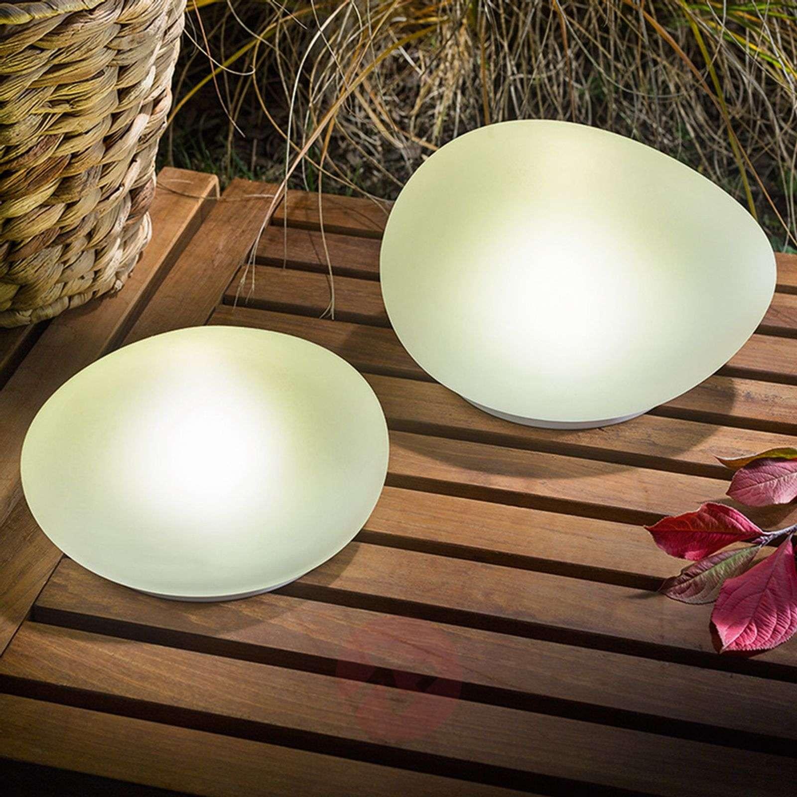 Aurinkokäyttöinen LED-koristekivi Flintstone 2 kpl-3012539-01