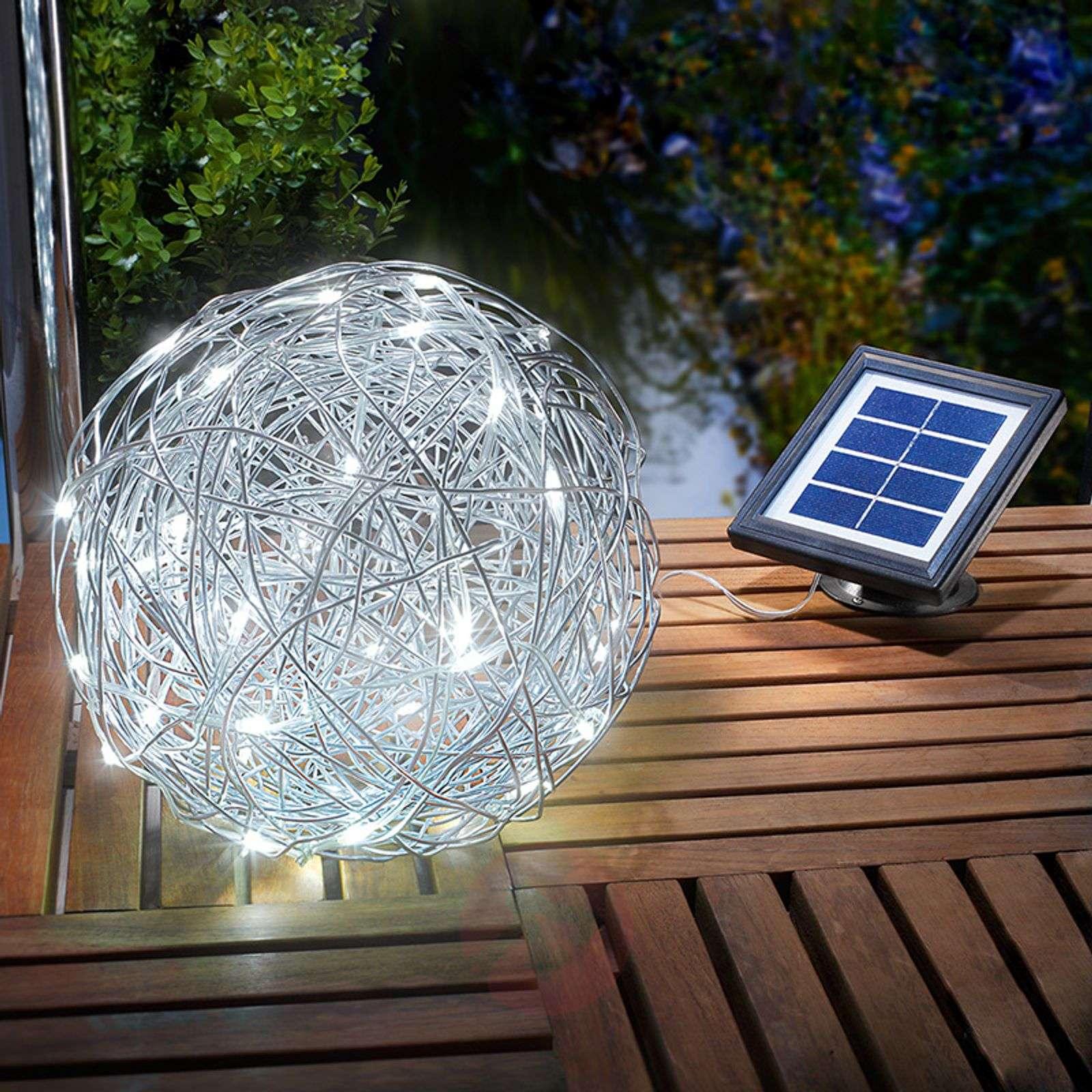 Aurinkokäyttöinen LED-koristepallo alumiini, ulos-3012511-01