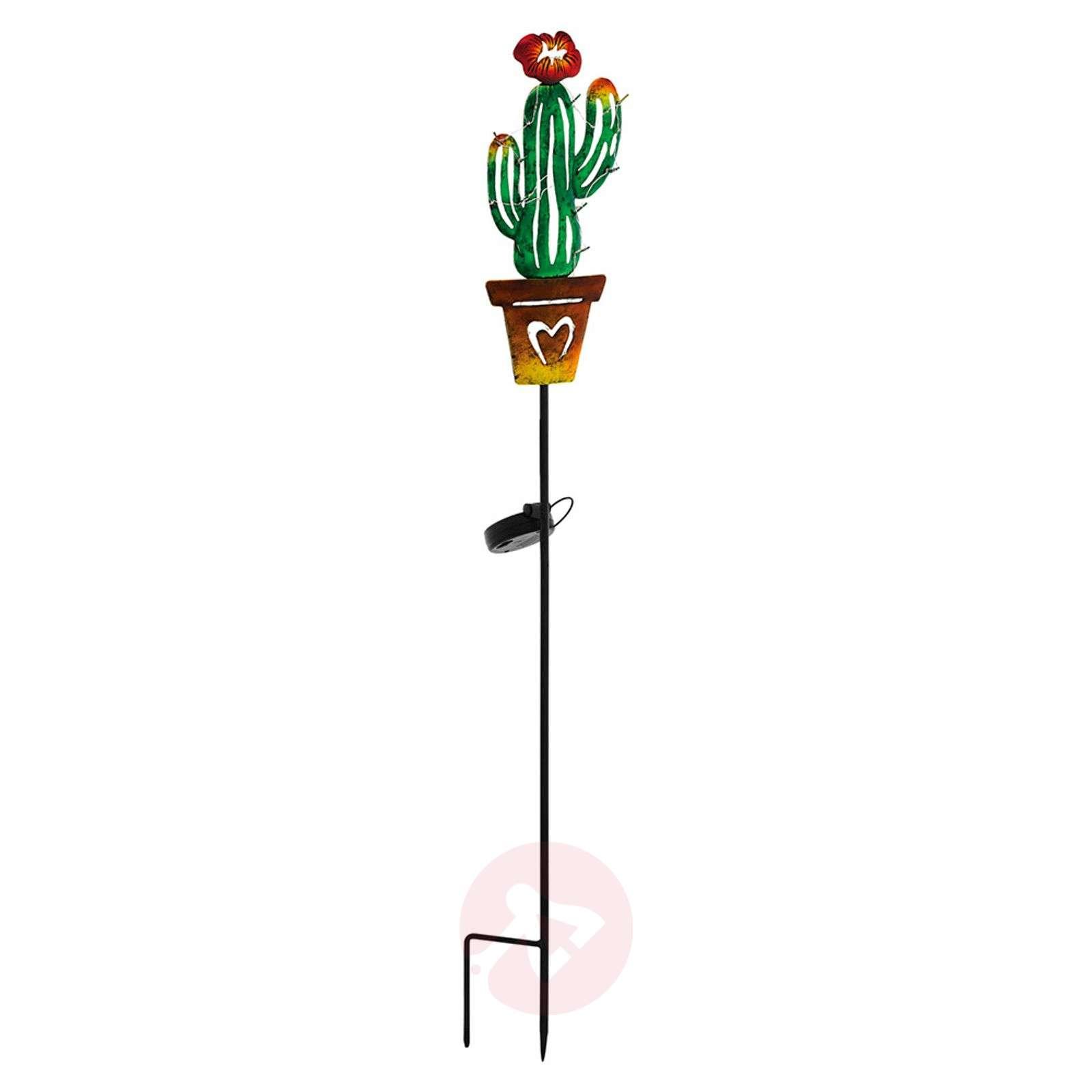 Aurinkokäyttöinen LED-koristevalaisin 48714 kaktus-3000658-01