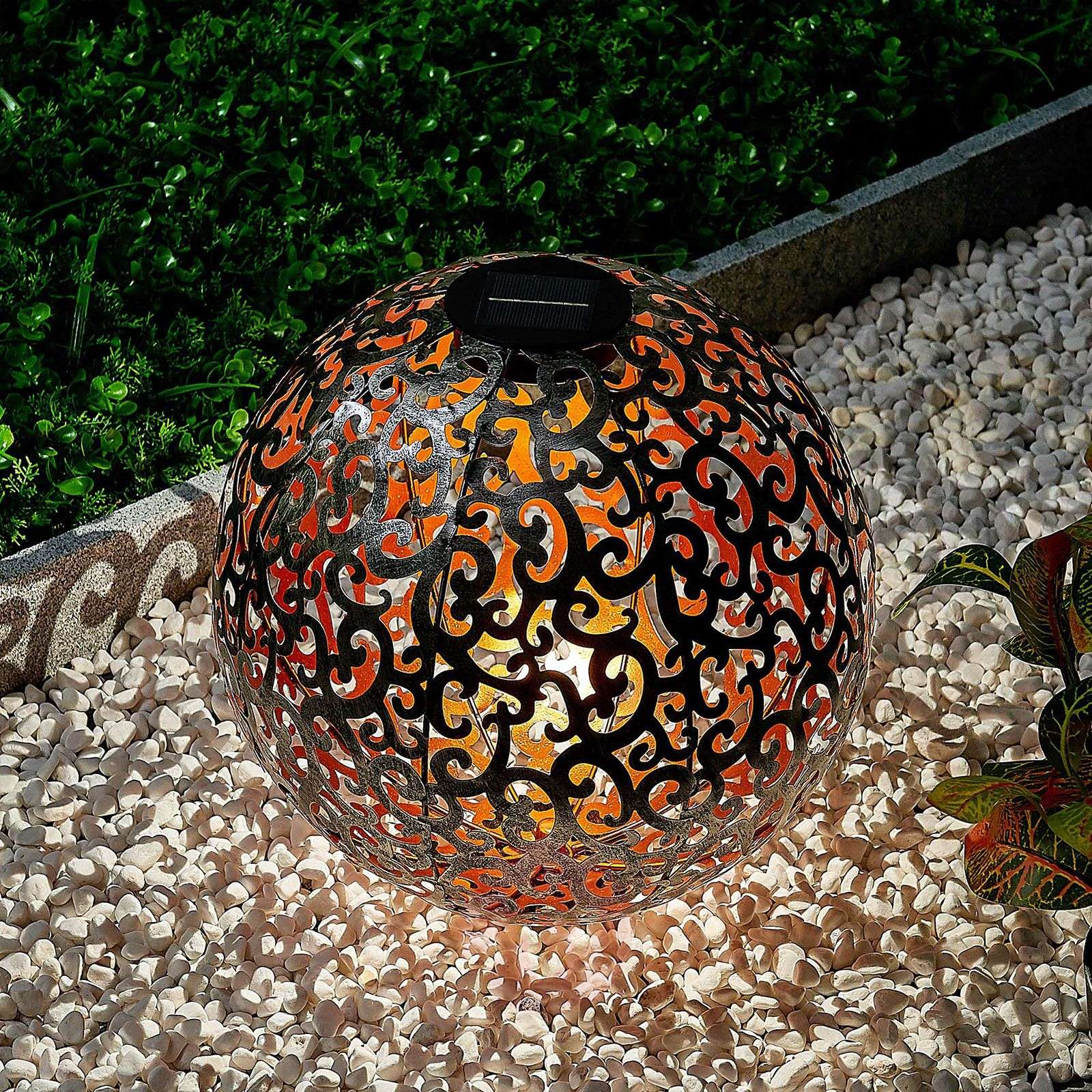Aurinkokäyttöinen LED-lamppu Eduta hopea-kulta-9945352-01