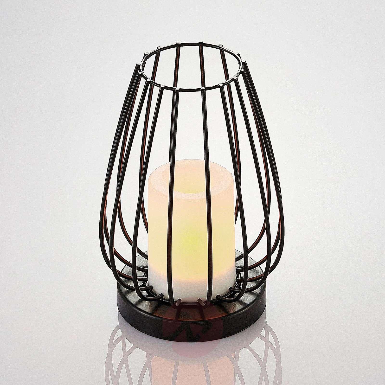 Aurinkokäyttöinen LED-lamppu Hannika, meripihka-9945354-01