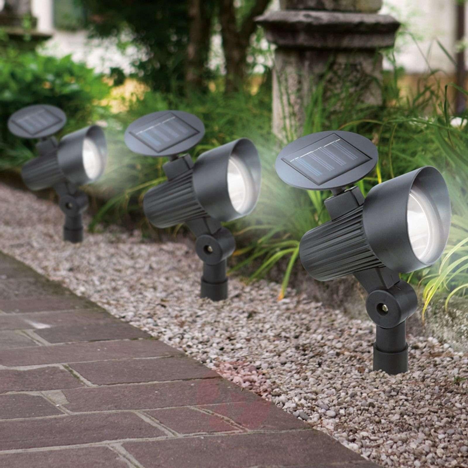 Aurinkokäyttöinen LED-maapiikkivalaisin Ludo 3kpl