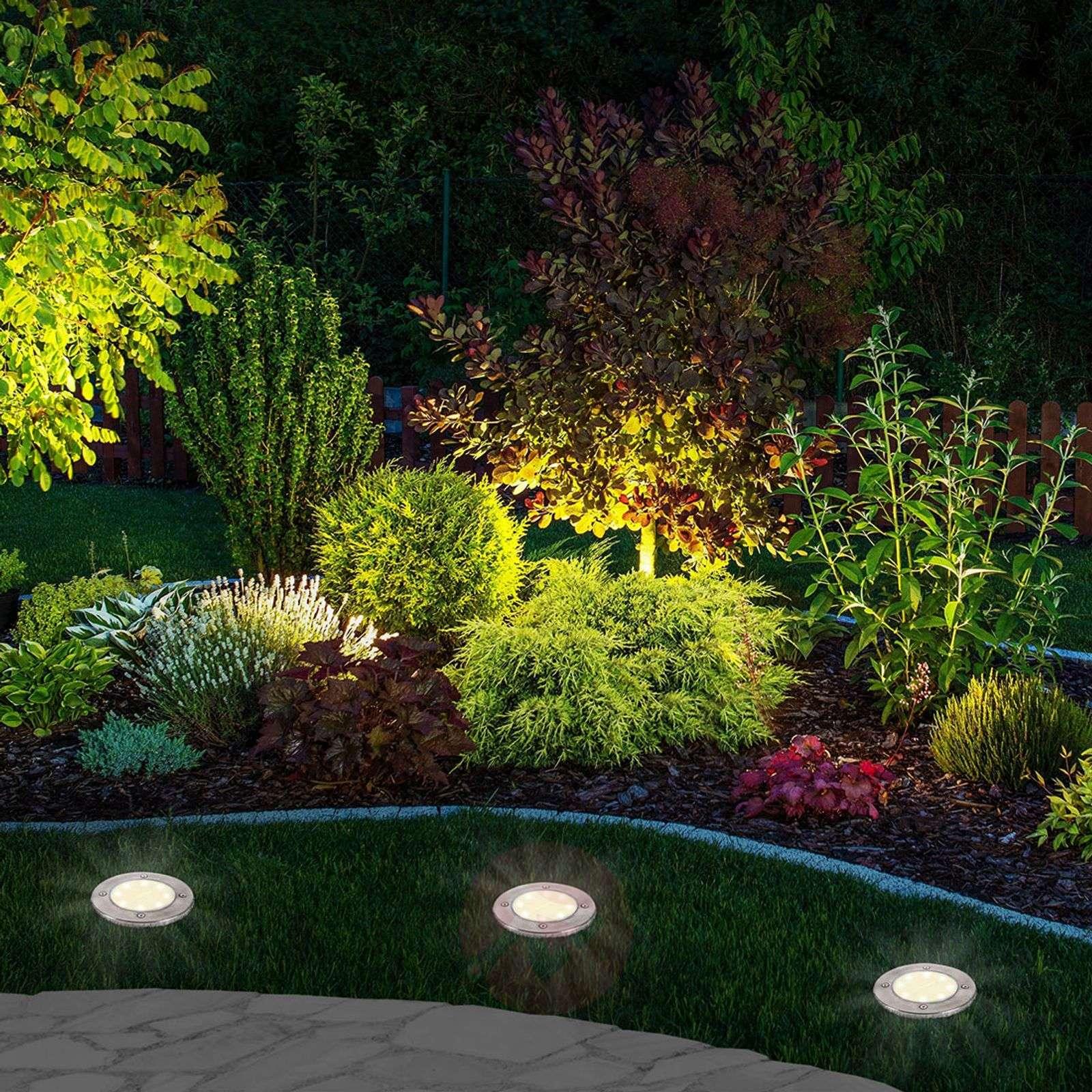 Aurinkokäyttöinen LED-maapiikkivalaisin Ronda 3kpl-7001065-01