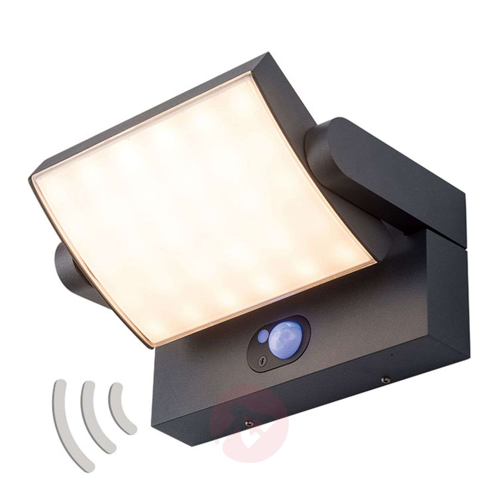 Aurinkokäyttöinen LED-seinävalaisin Sherin sensori-9932022-02