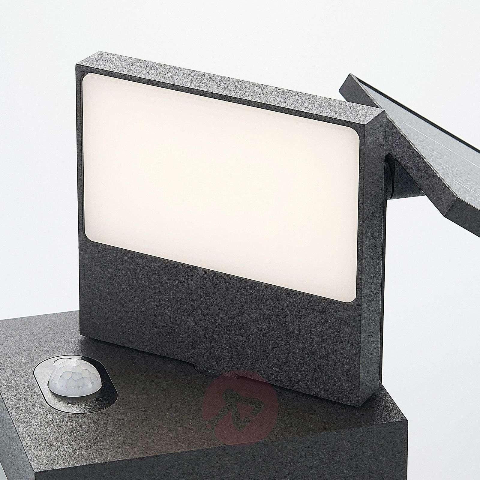 Aurinkokäyttöinen LED-seinävalaisin Silvan sensori-9619179-02