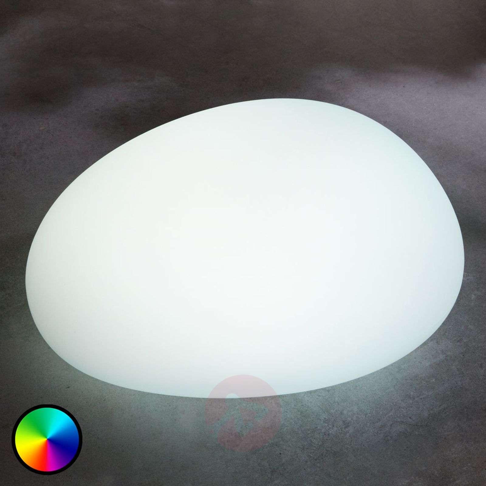 Aurinkokäyttöinen RGB-LED-lamppu Floriana, 22 cm-6729008-01