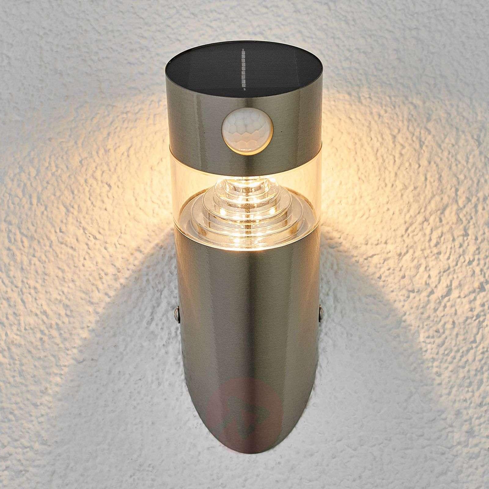 Aurinkokäyttöinen, vino Kalypso-LED-seinälamppu-9988128-01