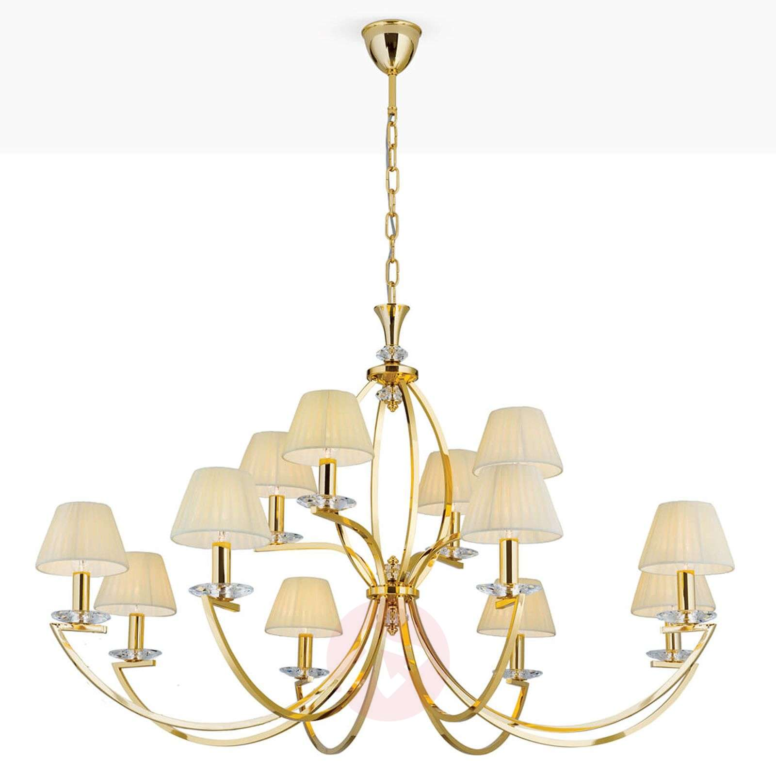 Avala-kattokruunu, 24 karaatin kultaus, 12-lamppua-7255242-01