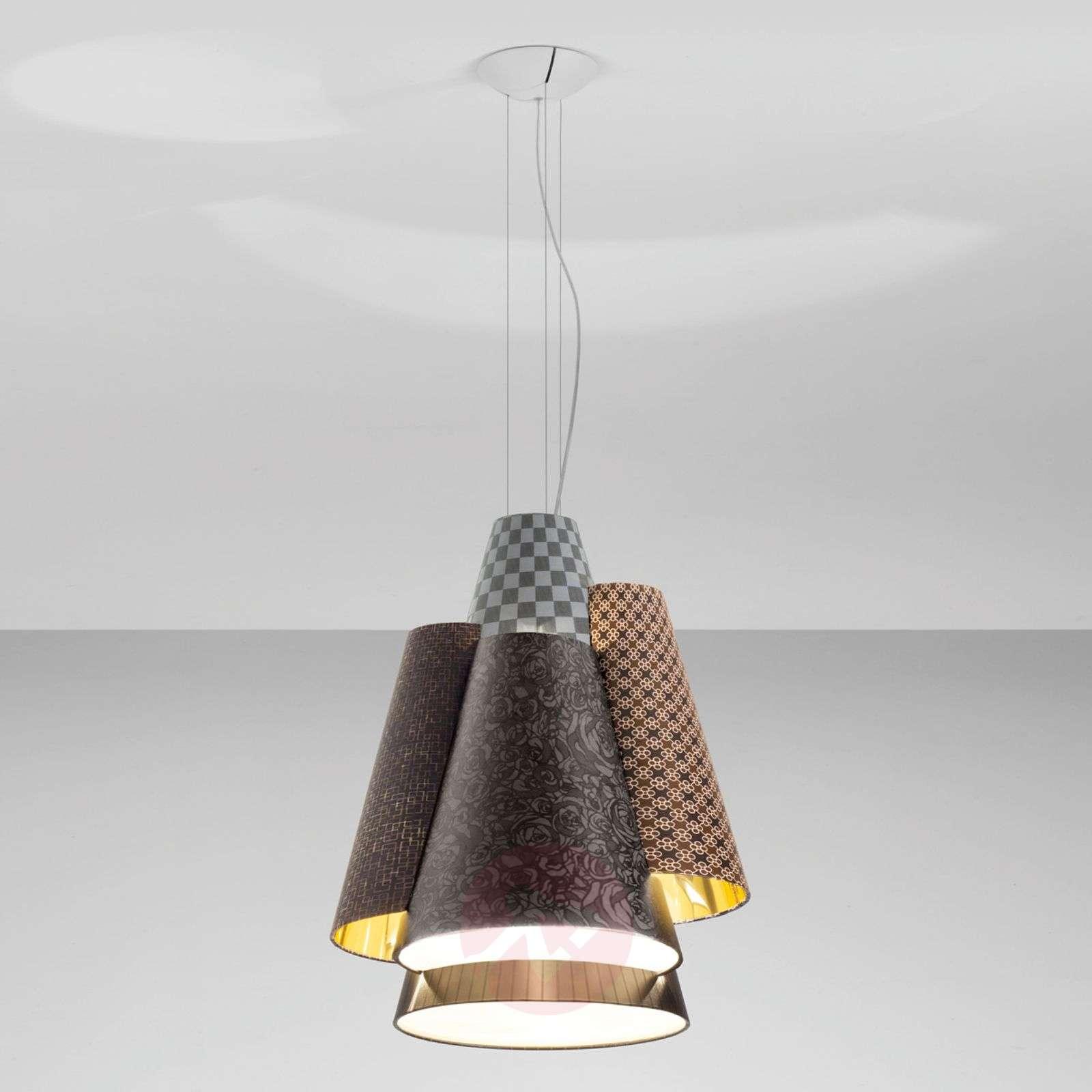 Axolight Melting Pot 60-riippuvalo ruskea-kulta-1088076-01