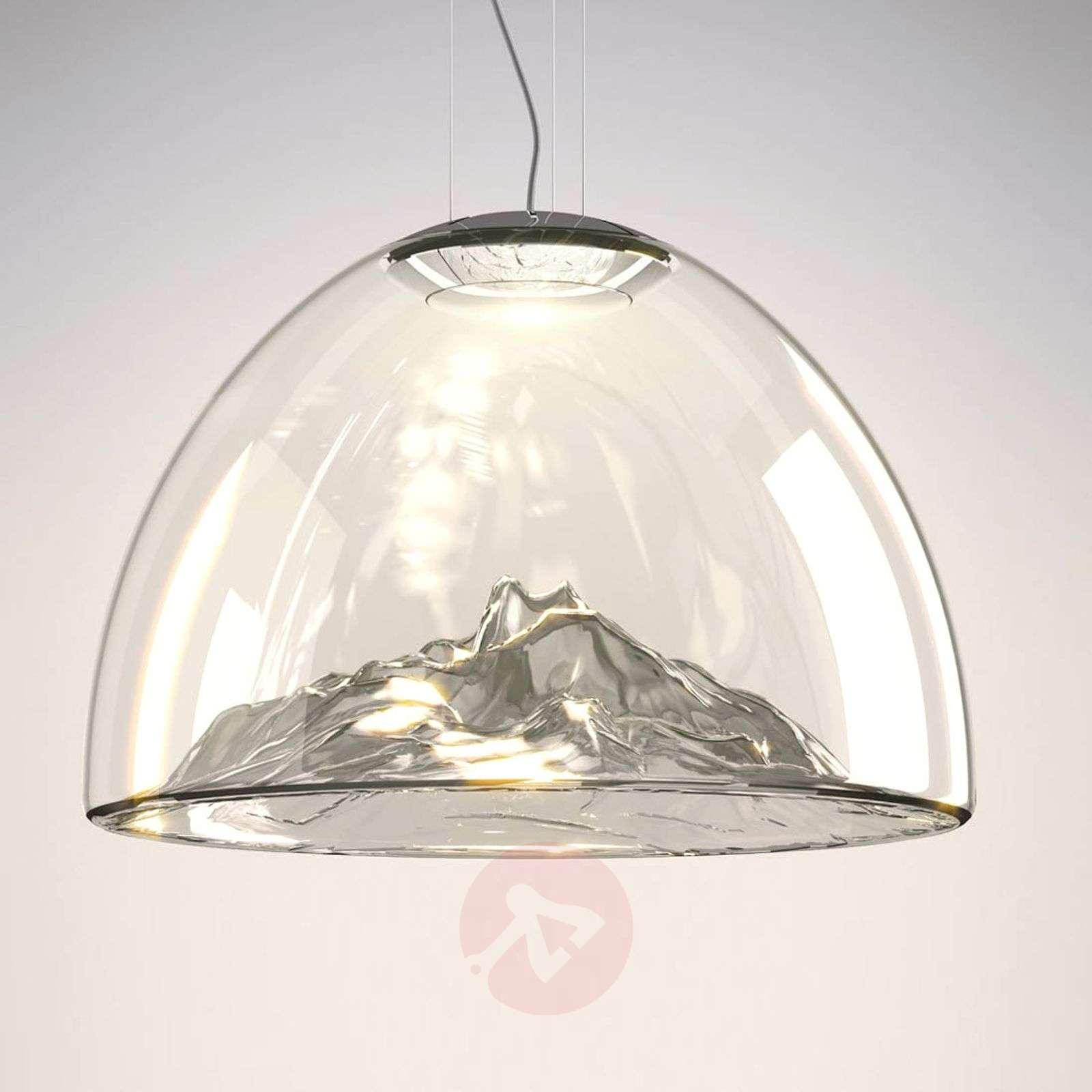 Axolight Mountain View LED-valaisin harmaa-kromi-1088073-01