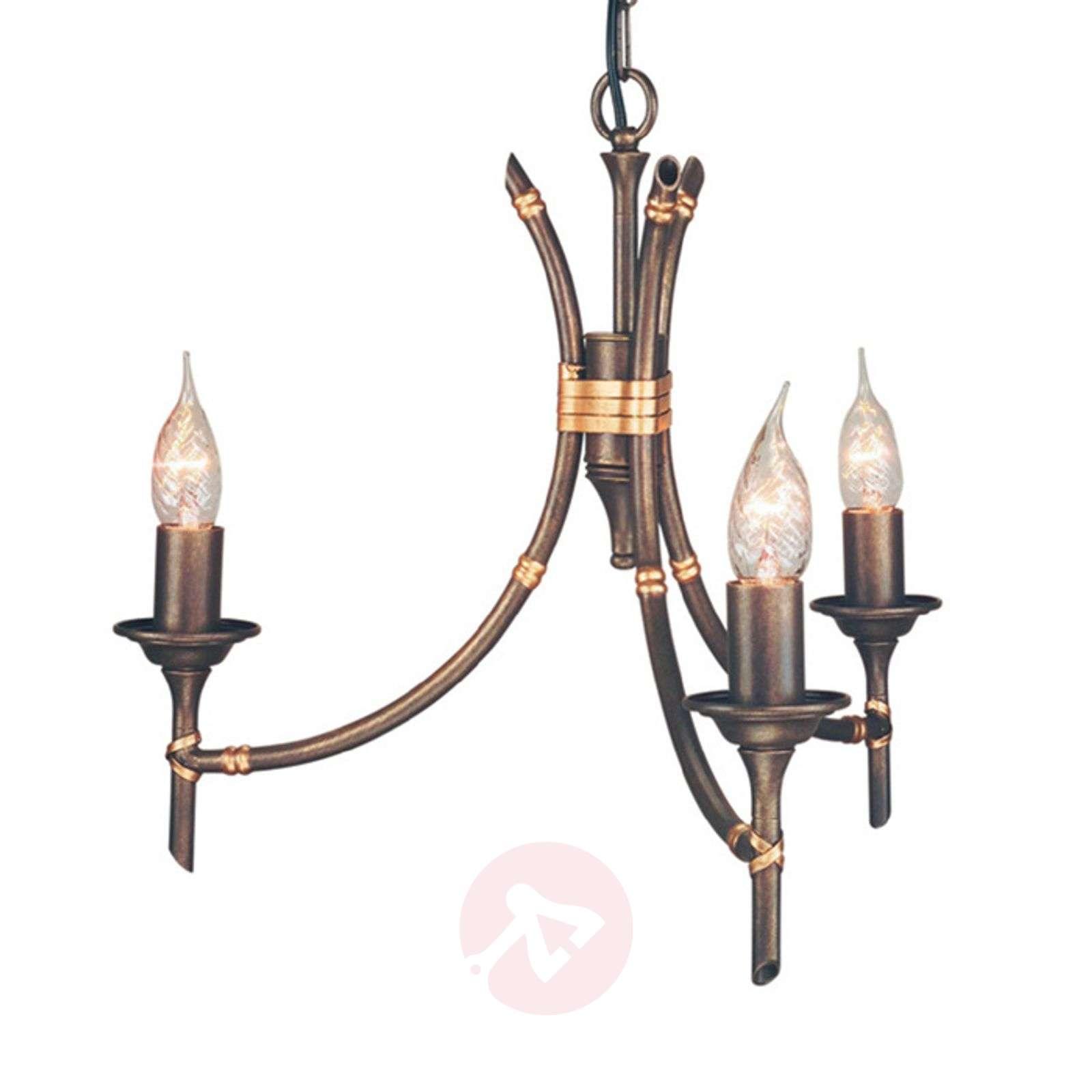 BAMBOO-riippuvalaisin, pronssi, 3 lamppua-3048031-01