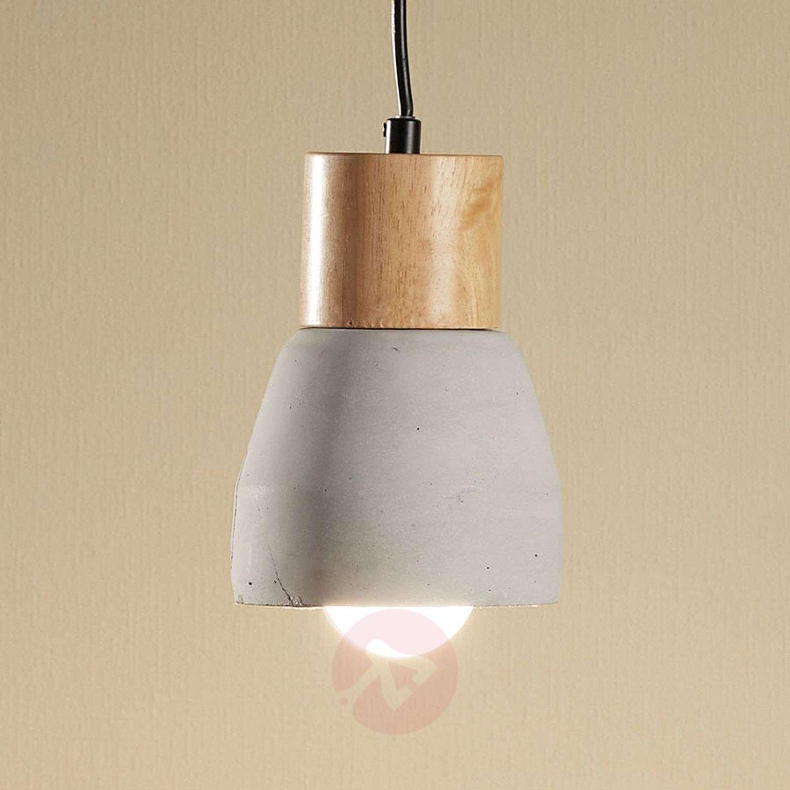 Betoniriippuvalaisin Margot sis. puuta 1-lampp.-9984016-02