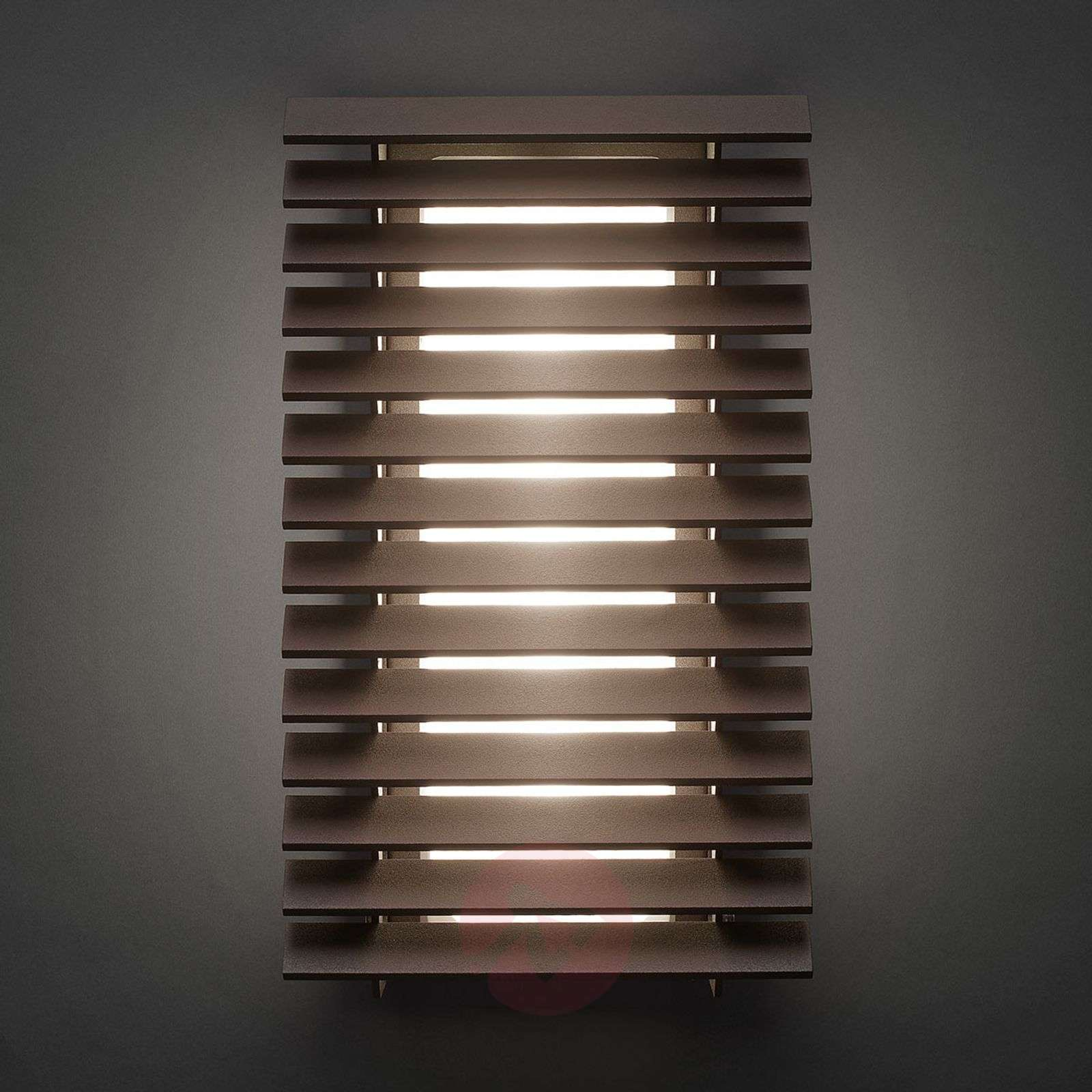 Bover Lineana V-LED-ulkoseinävalaisin, ruskea-1569023-01