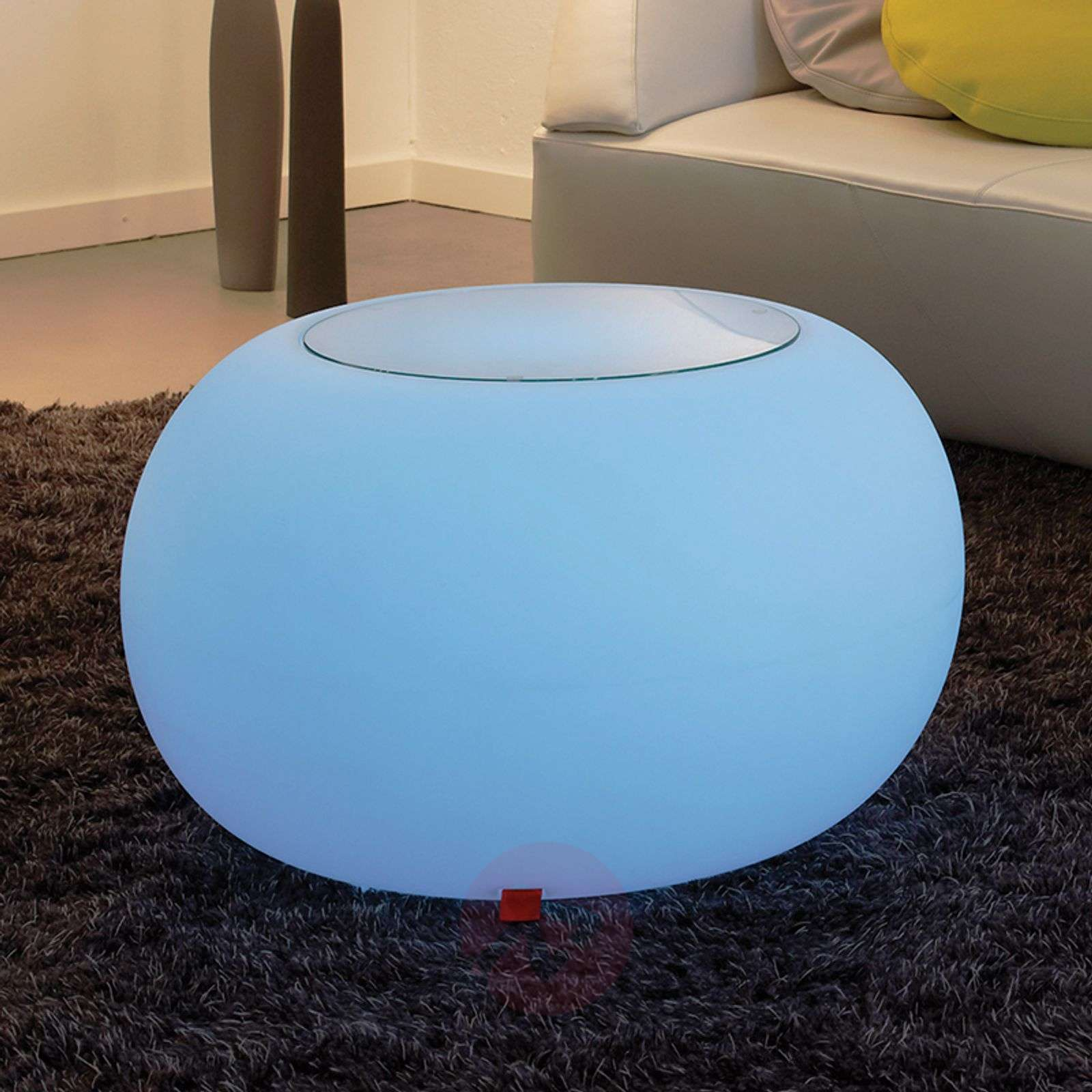 Bubble LED Accu Outdoor pöytä lasilevyllä-6537083-01
