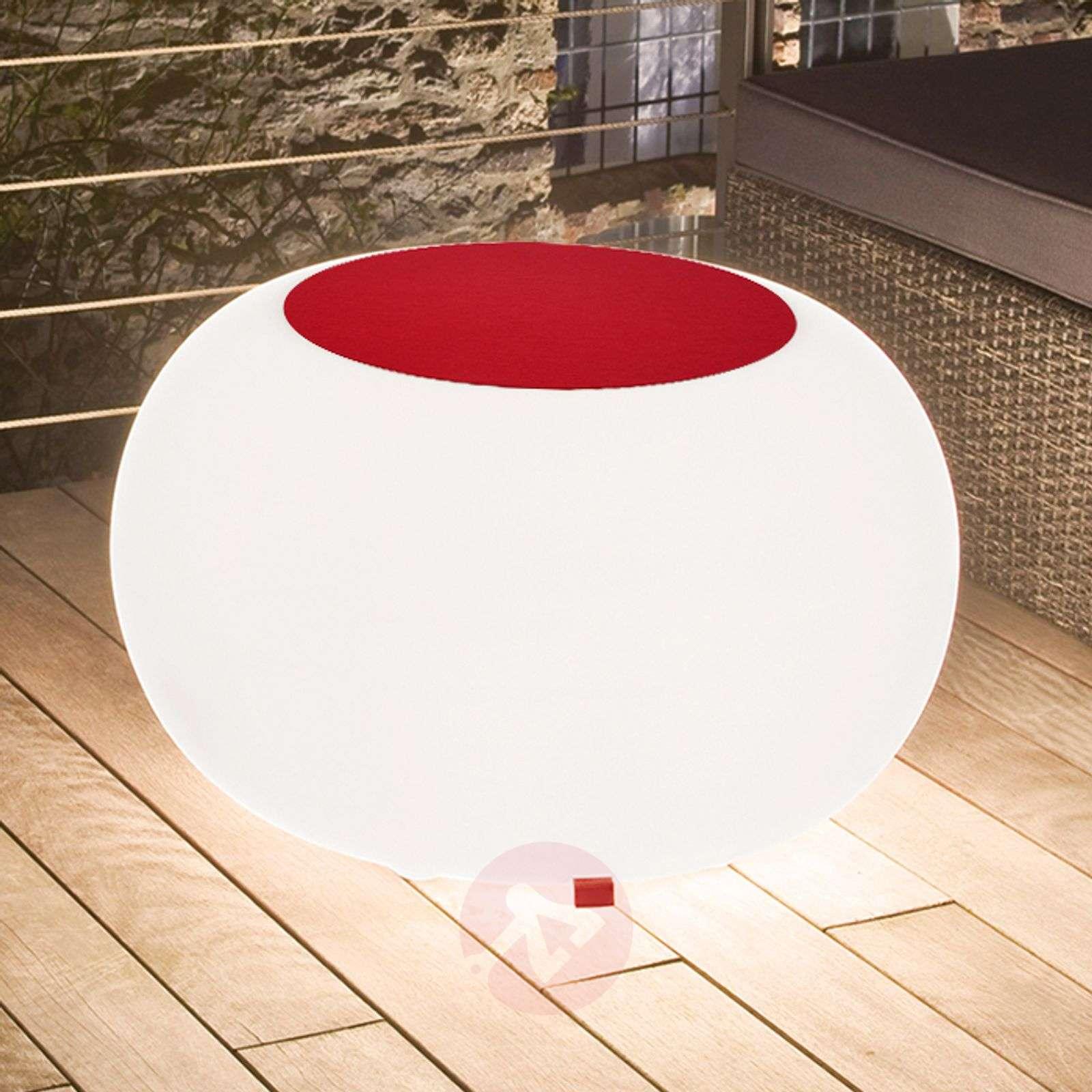 Bubble Outdoor LED pöytä RGB + huopa punainen-6537071-01