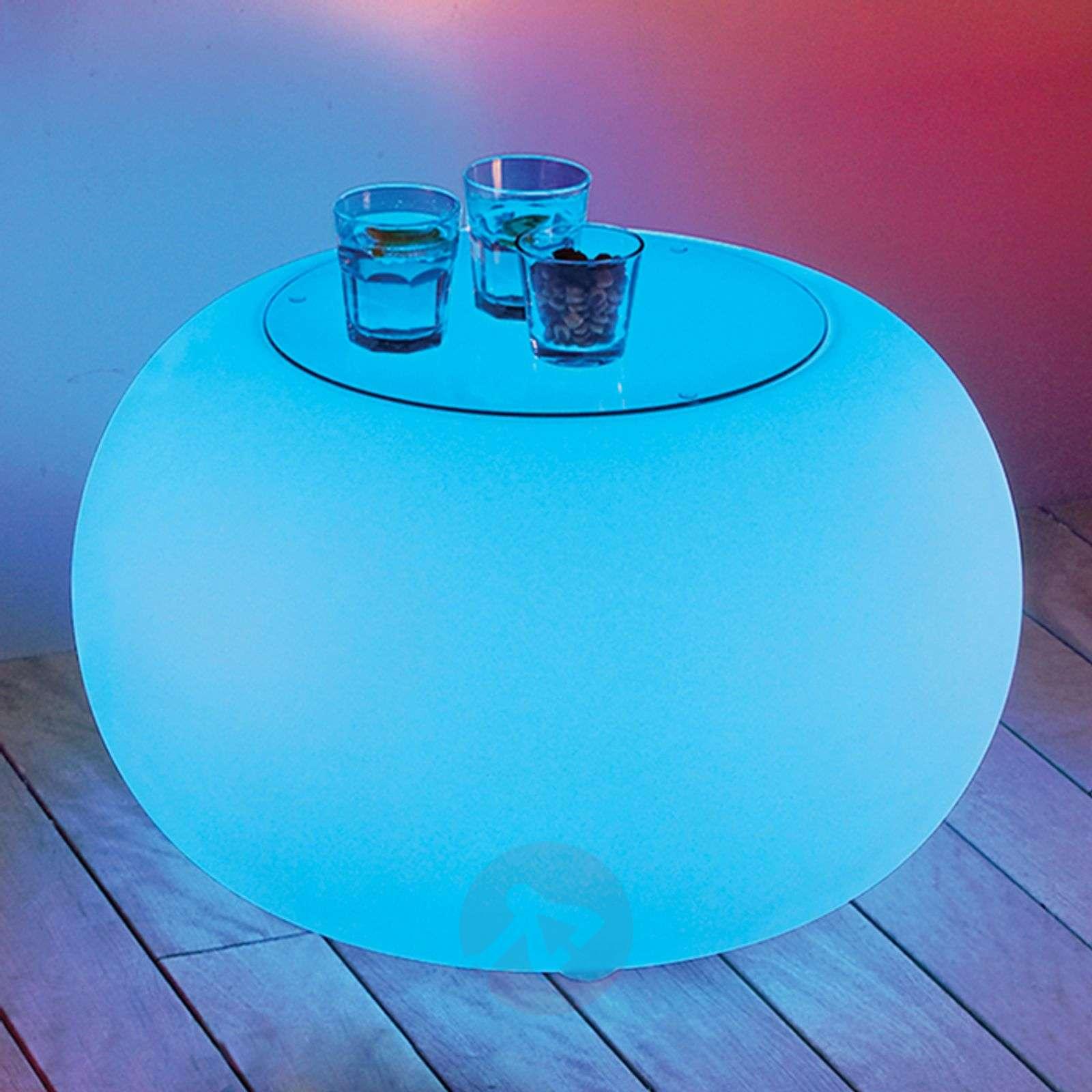 Bubble Outdoor LED pöytä RGB + lasilevy-6537069-01