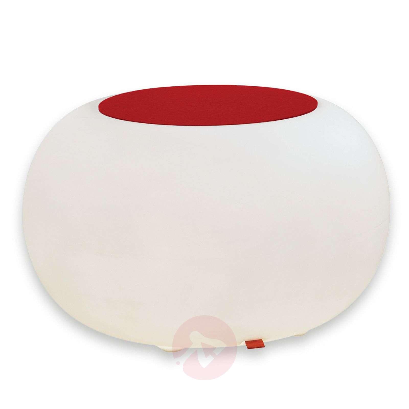 Bubble Outdoor pöytä, valkoinen + huopa punainen-6537065-01