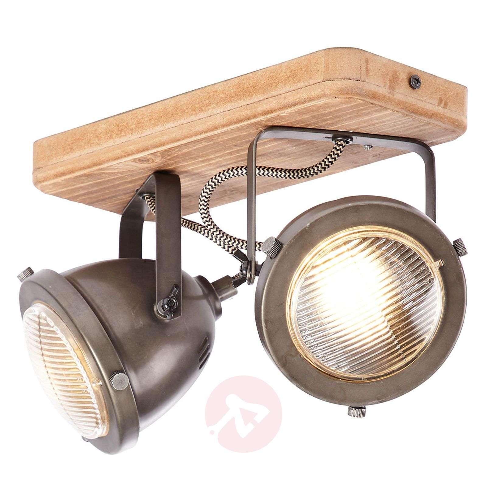 Carmen Wood kattolamppu teollisuustyyli 2 lamppua-1509429-01