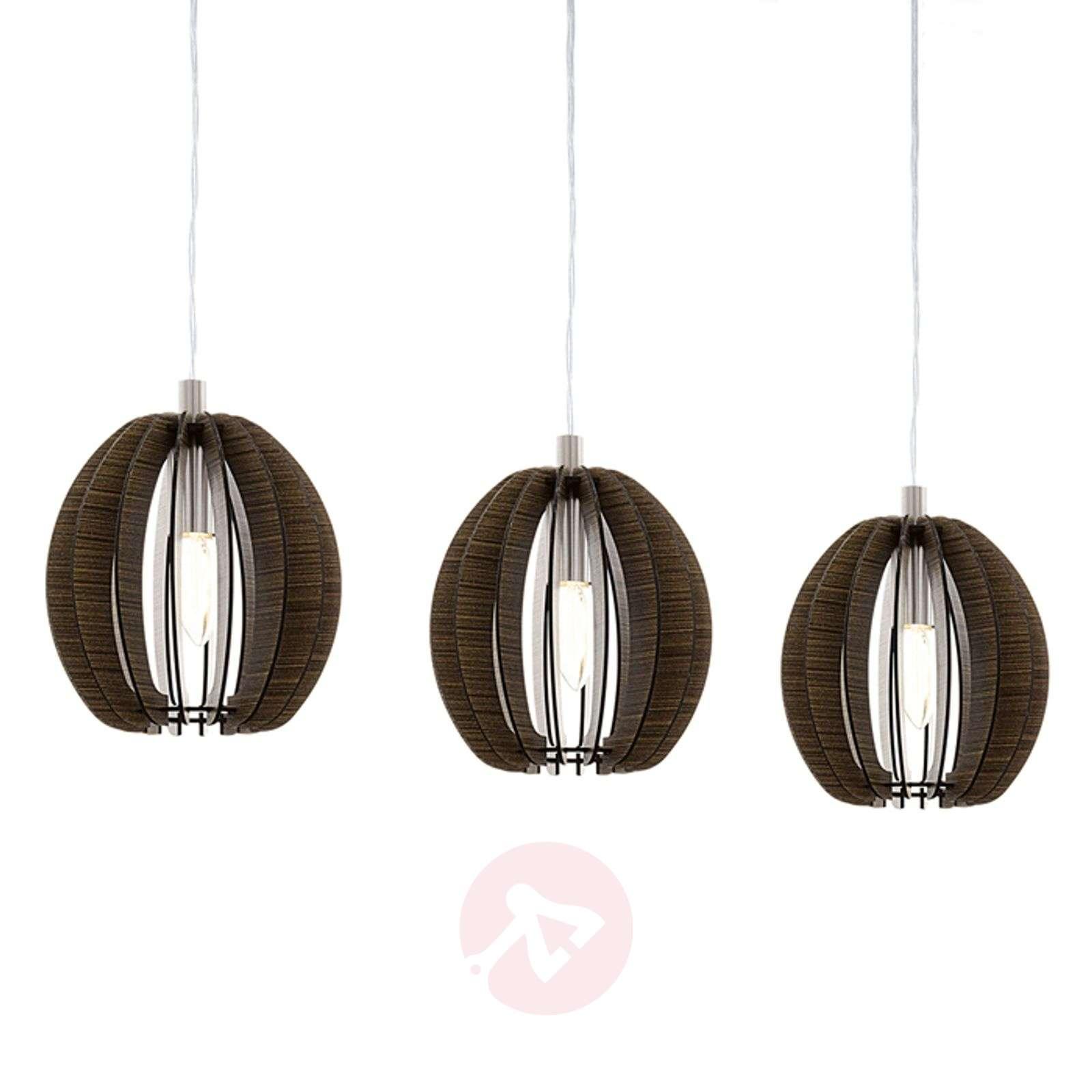 Cossano – kolmilamppuinen riippuvalaisin puuta-3031908-01