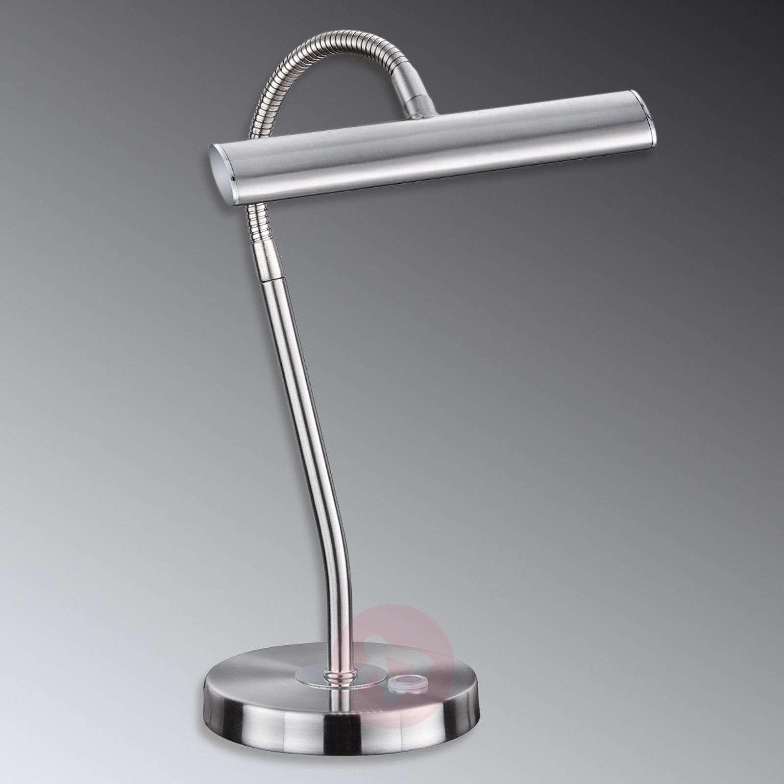 Curtis LED-pöytävalaisin, matta nikkeli-9005082-01