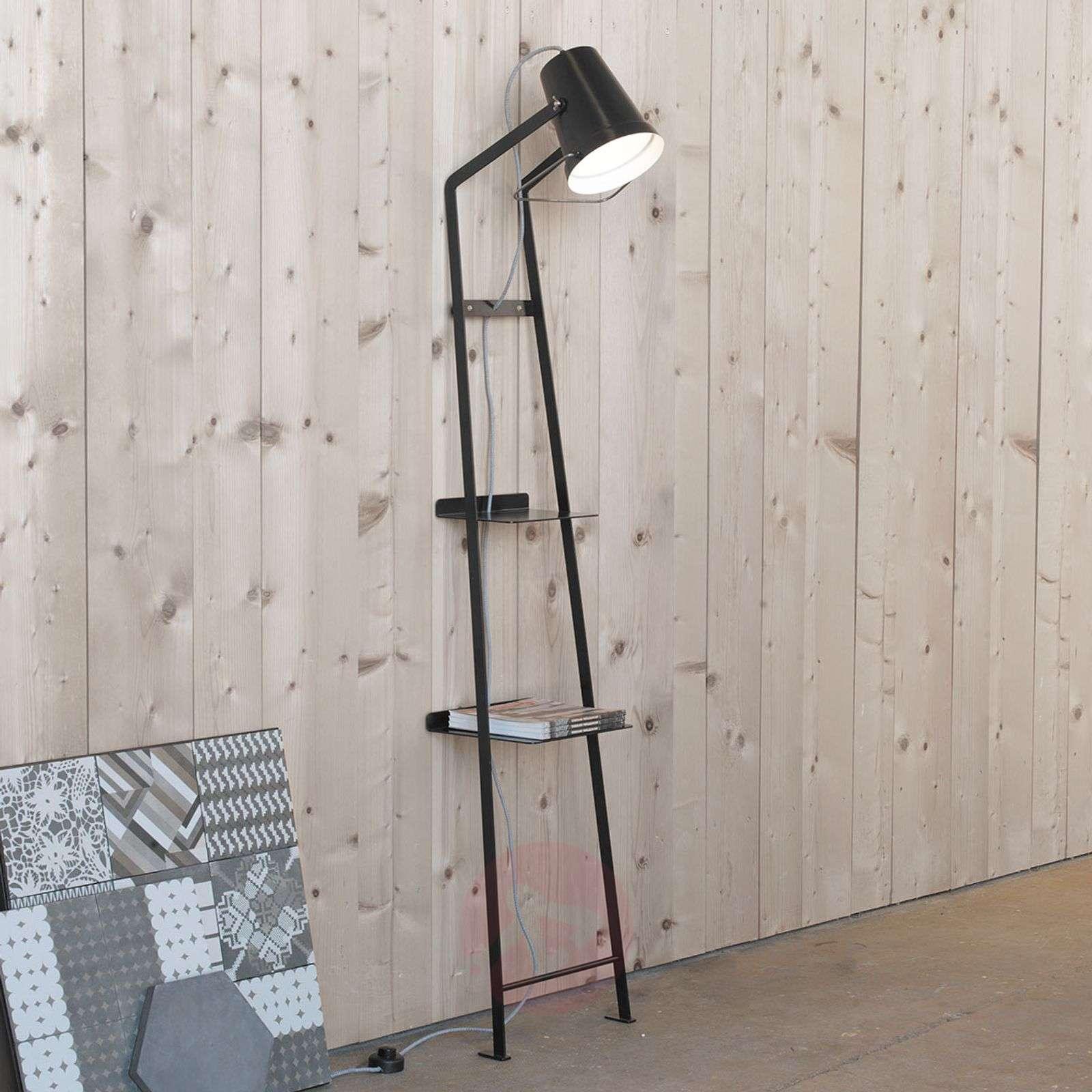 Design-lattiavalaisin Alfred, jossa laskutasoja-5542007X-01