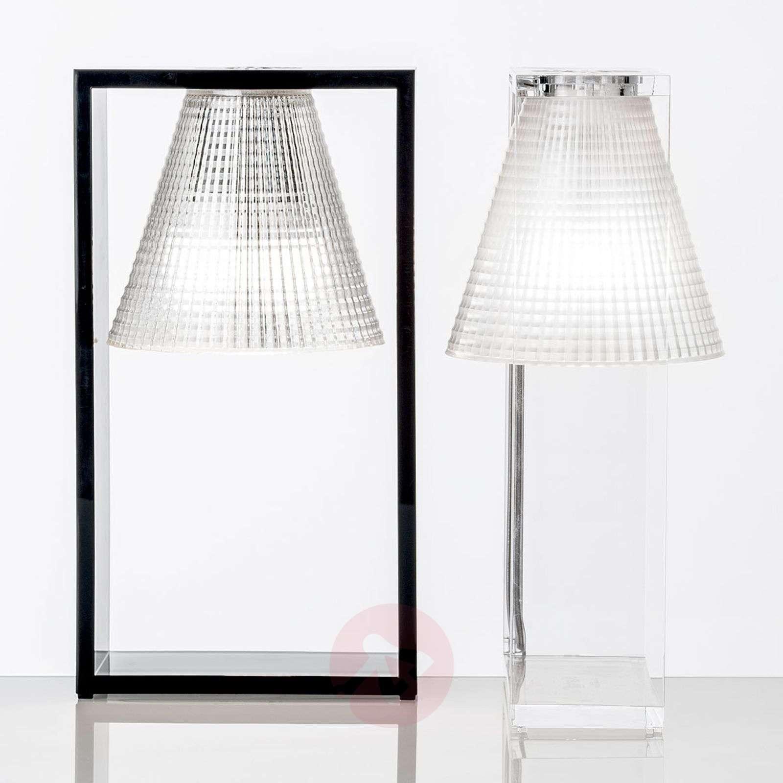 Design-LED-pöytälamppu Light-Air, musta/läpinäkyvä-5541037-01