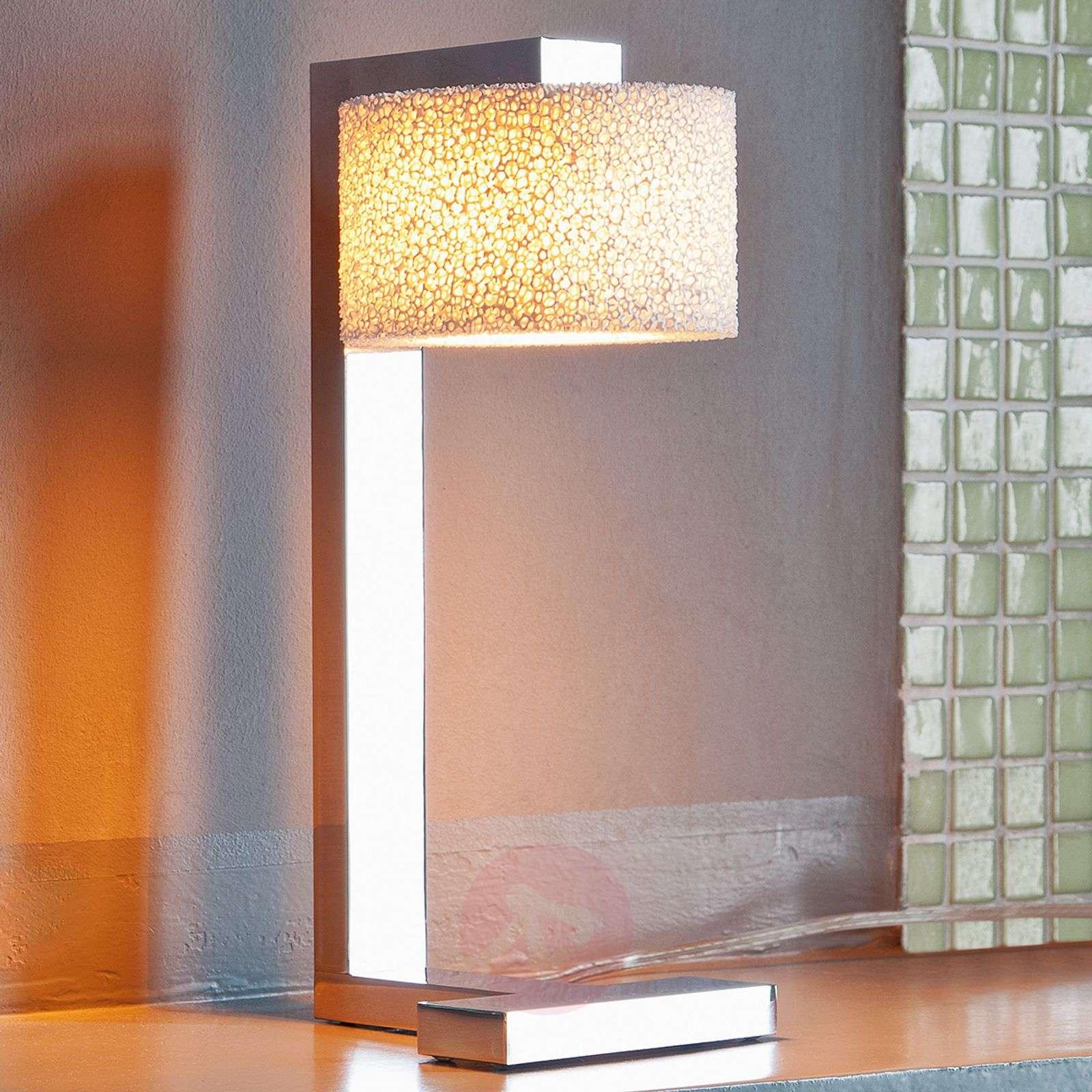 Design-LED-pöytävalaisin Reef vaahtokeramiikkaa-8550049-01