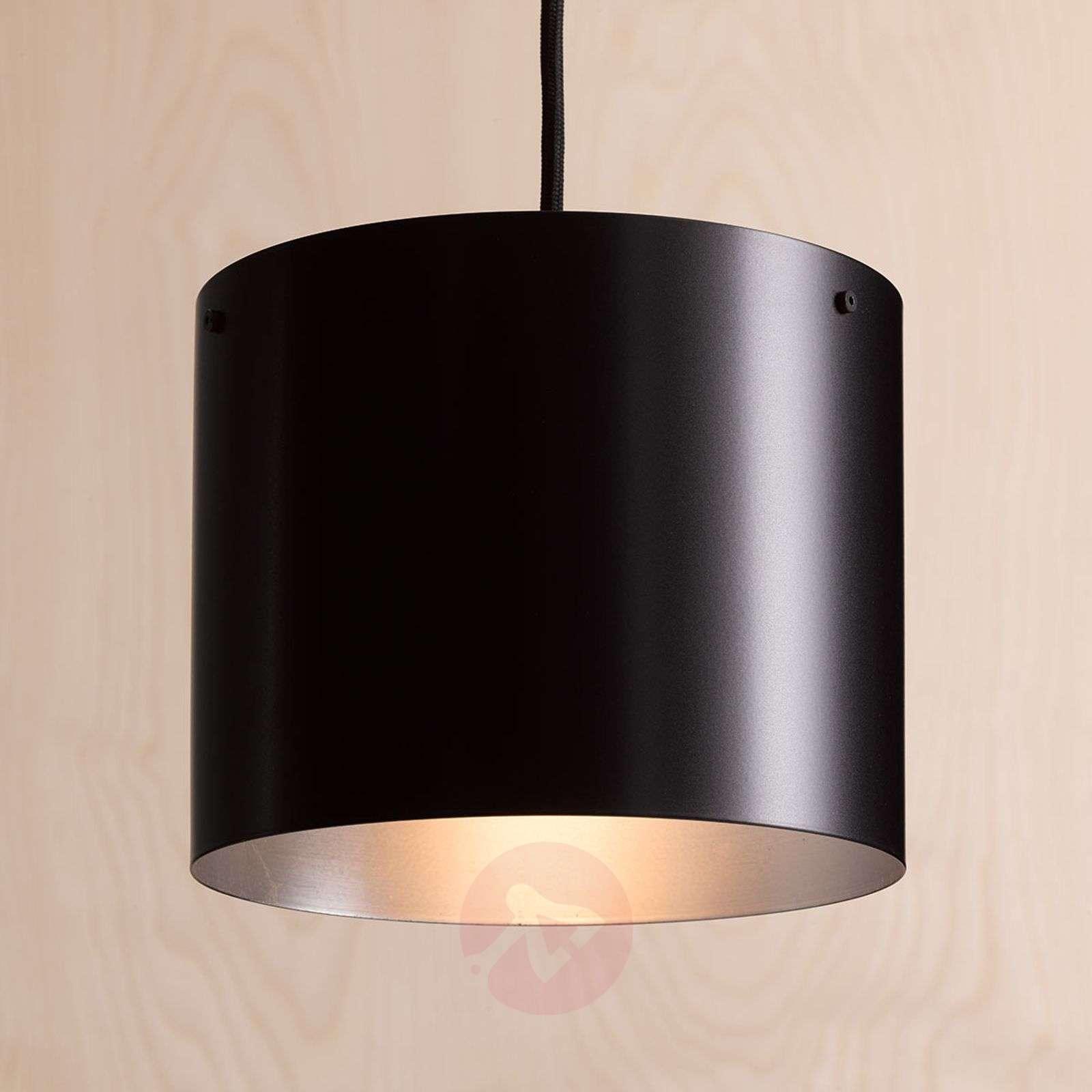 Design-LED-riippuvalaisin Afra, musta-hopea-1071002-01