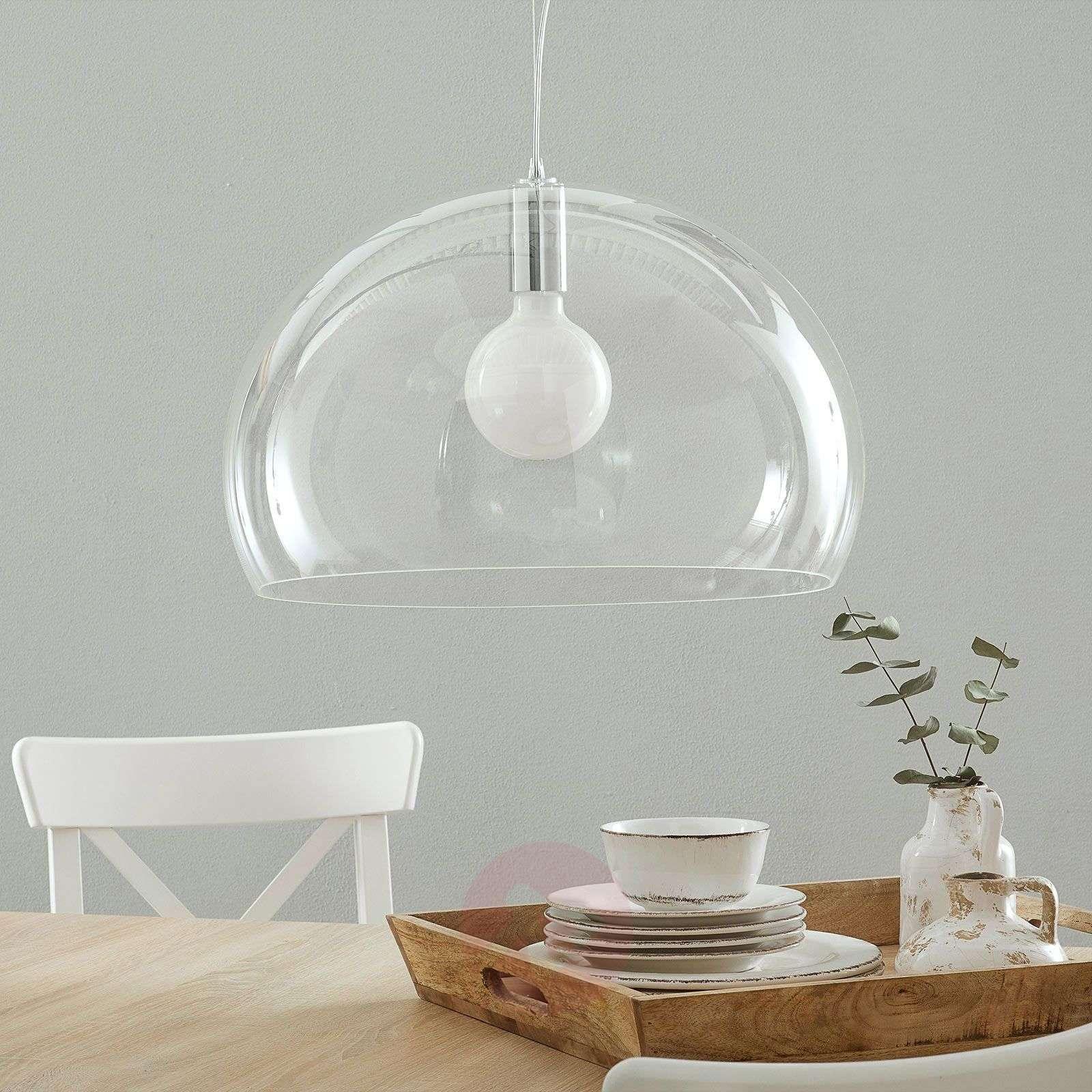 Design-LED-riippuvalo FL/Y, läpinäkyvä-5541056-01