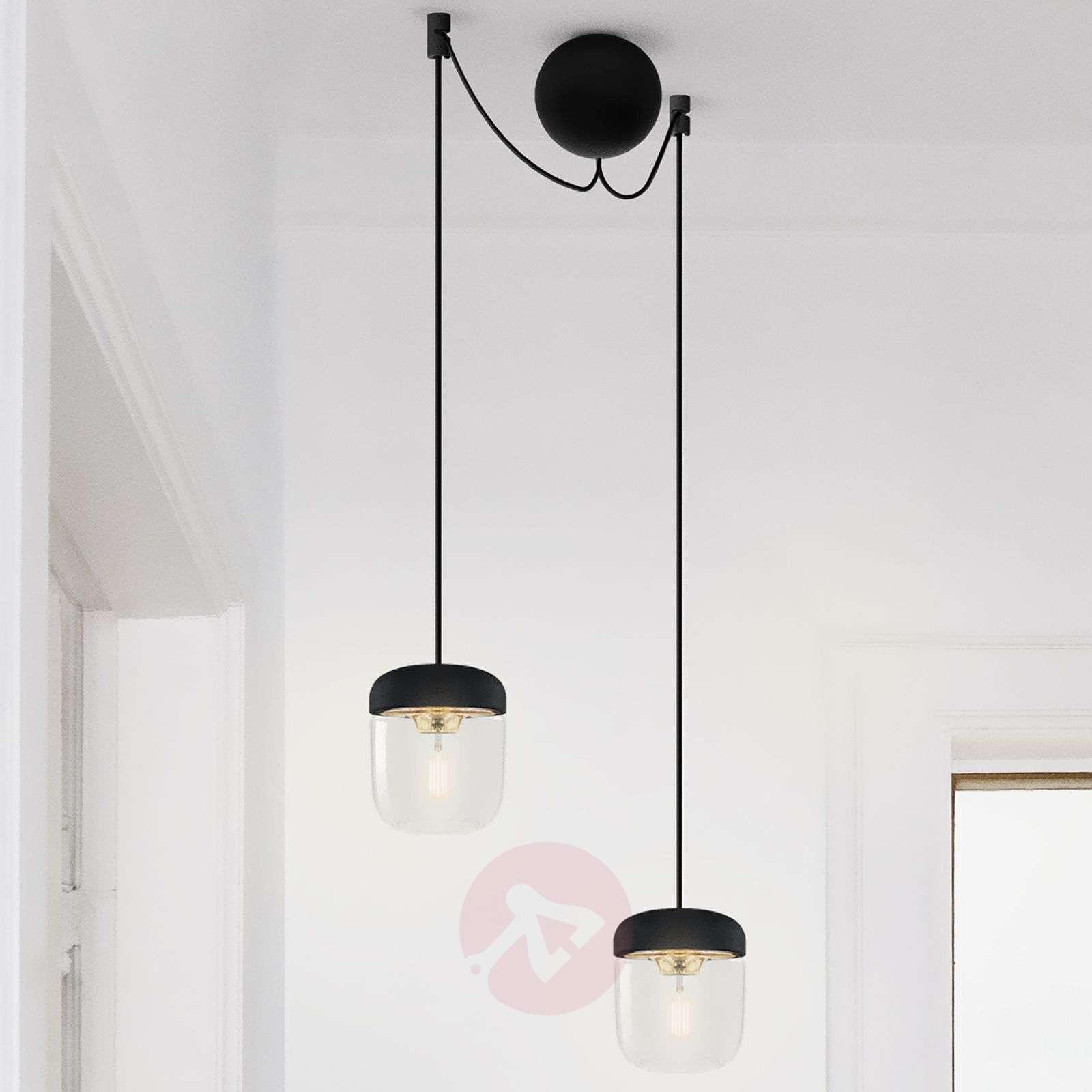 Design-riippuvalaisin Acorn – musta ja messinki-9521089-01