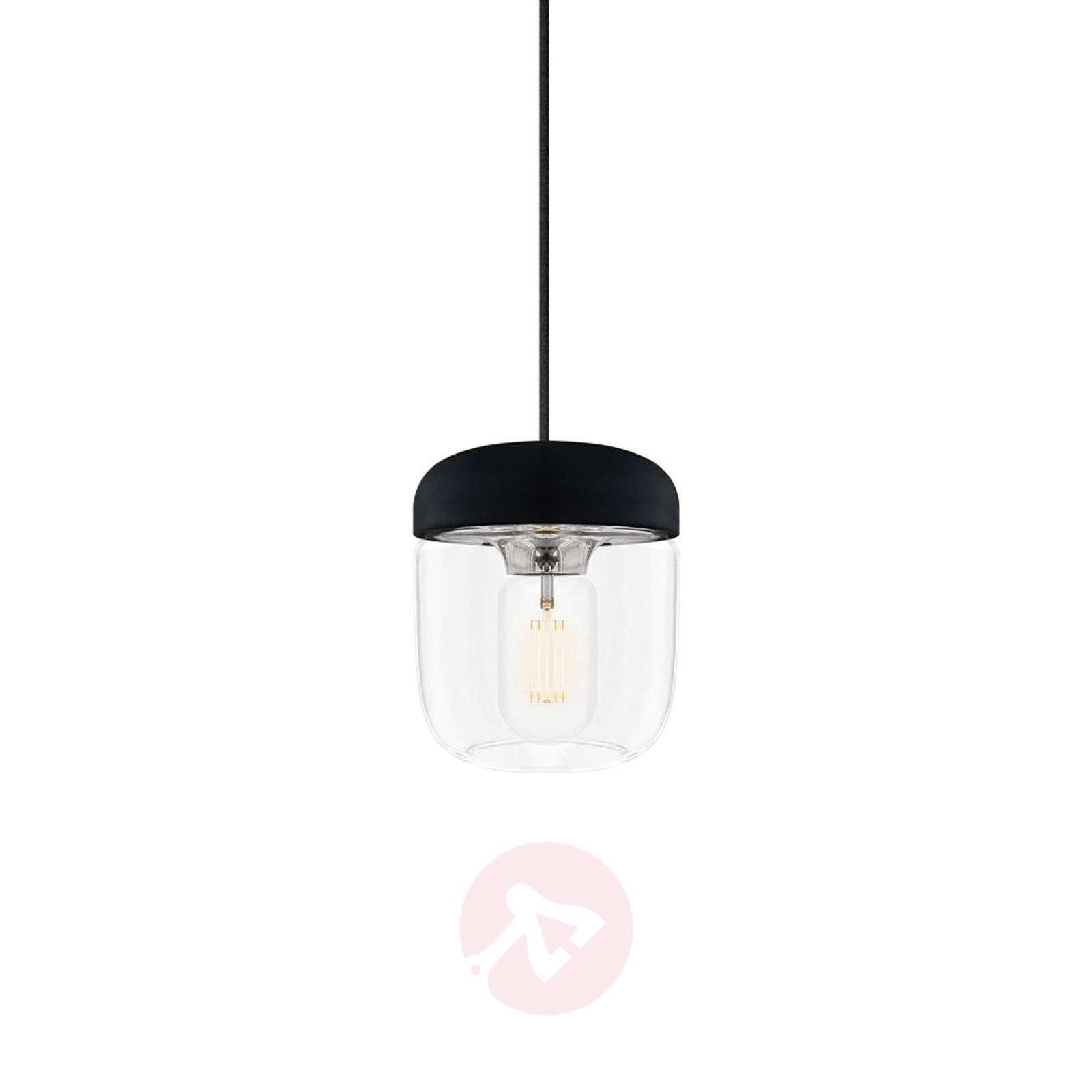 Design-riippuvalaisin Acorn, musta ja teräs-9521078-01