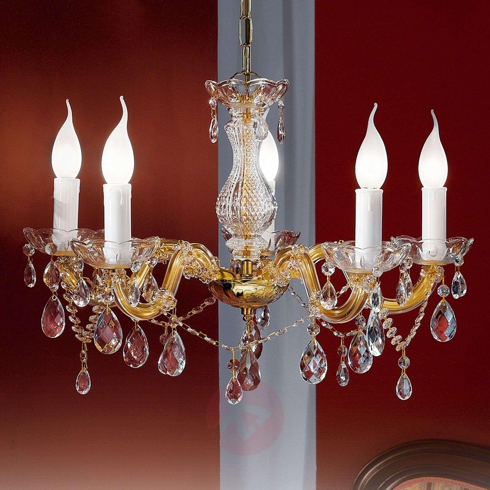Dolores-kattokruunu kristalleilla, 5-lamppuinen-7253346-01