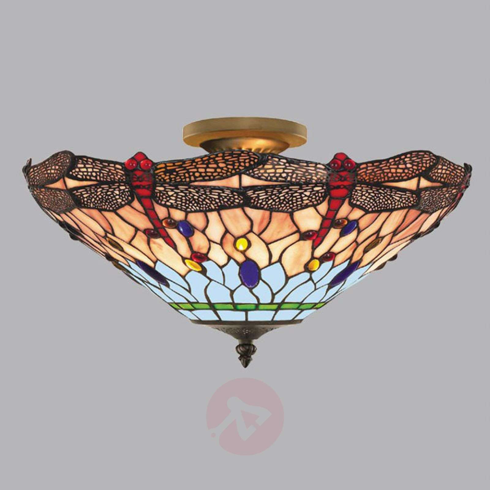 DRAGONFLY Tiffany-tyylinen kattovalaisin-8570405-03