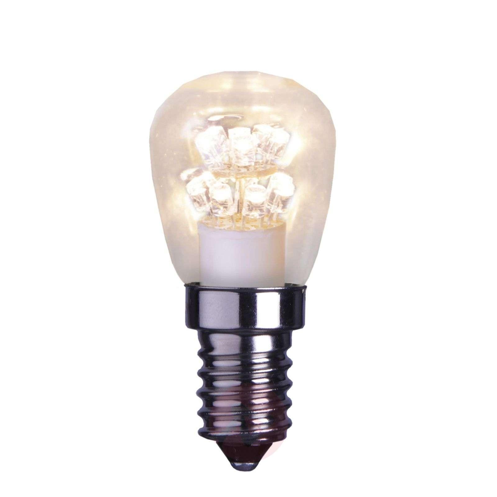 E14 0,7W LED-päärynälamppu, kirkas, 2 100 K-1522097-01