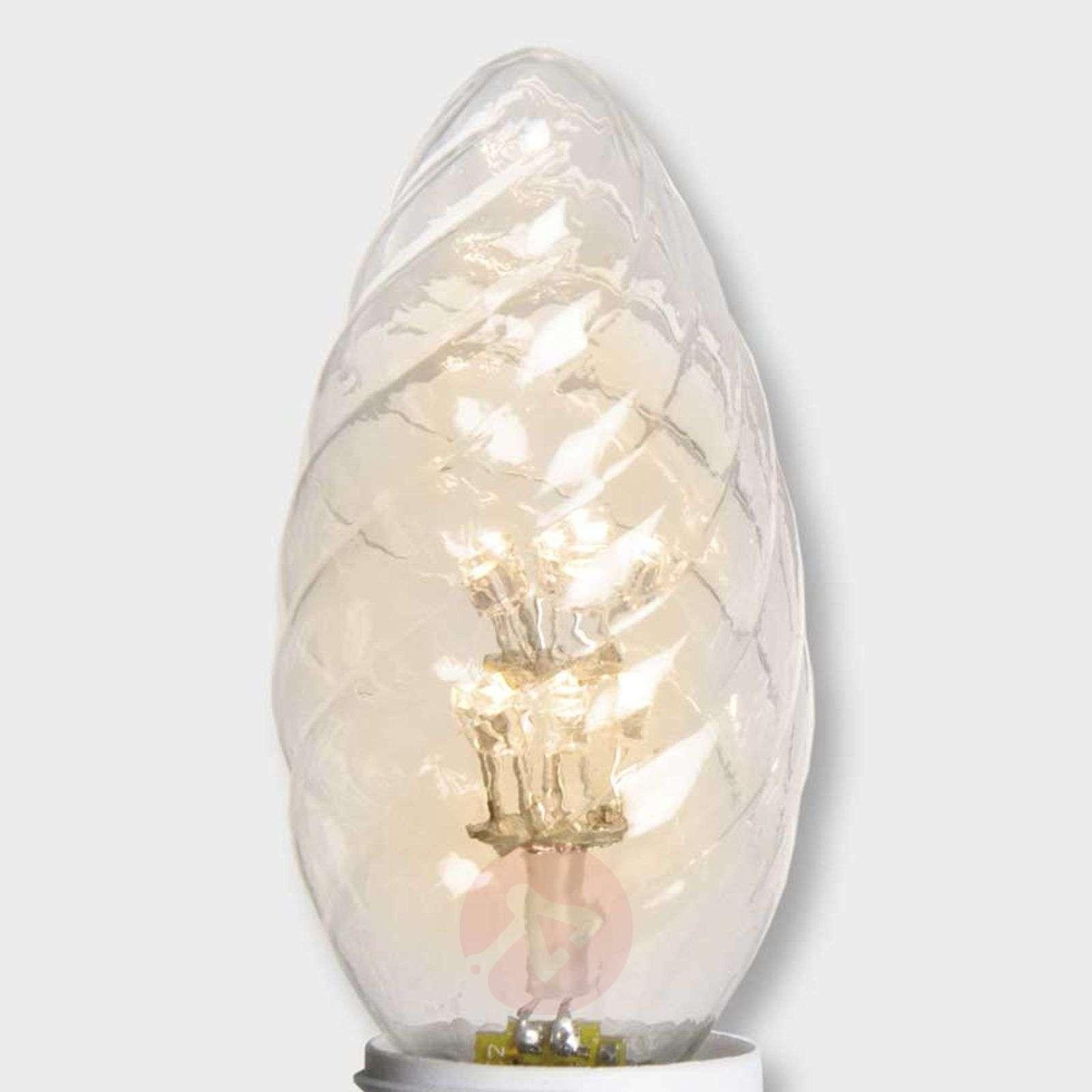 E14 0,9W LED-kynttilälamppu kirkas 2 600K-1522107-01