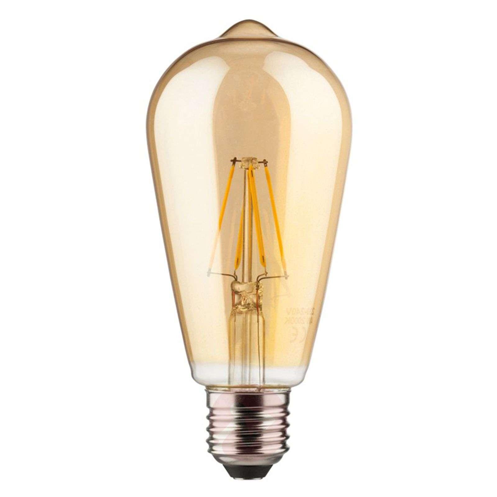 E27 6W 820 LED-filamentti-rustiikkilamppu, kulta-6520241-01