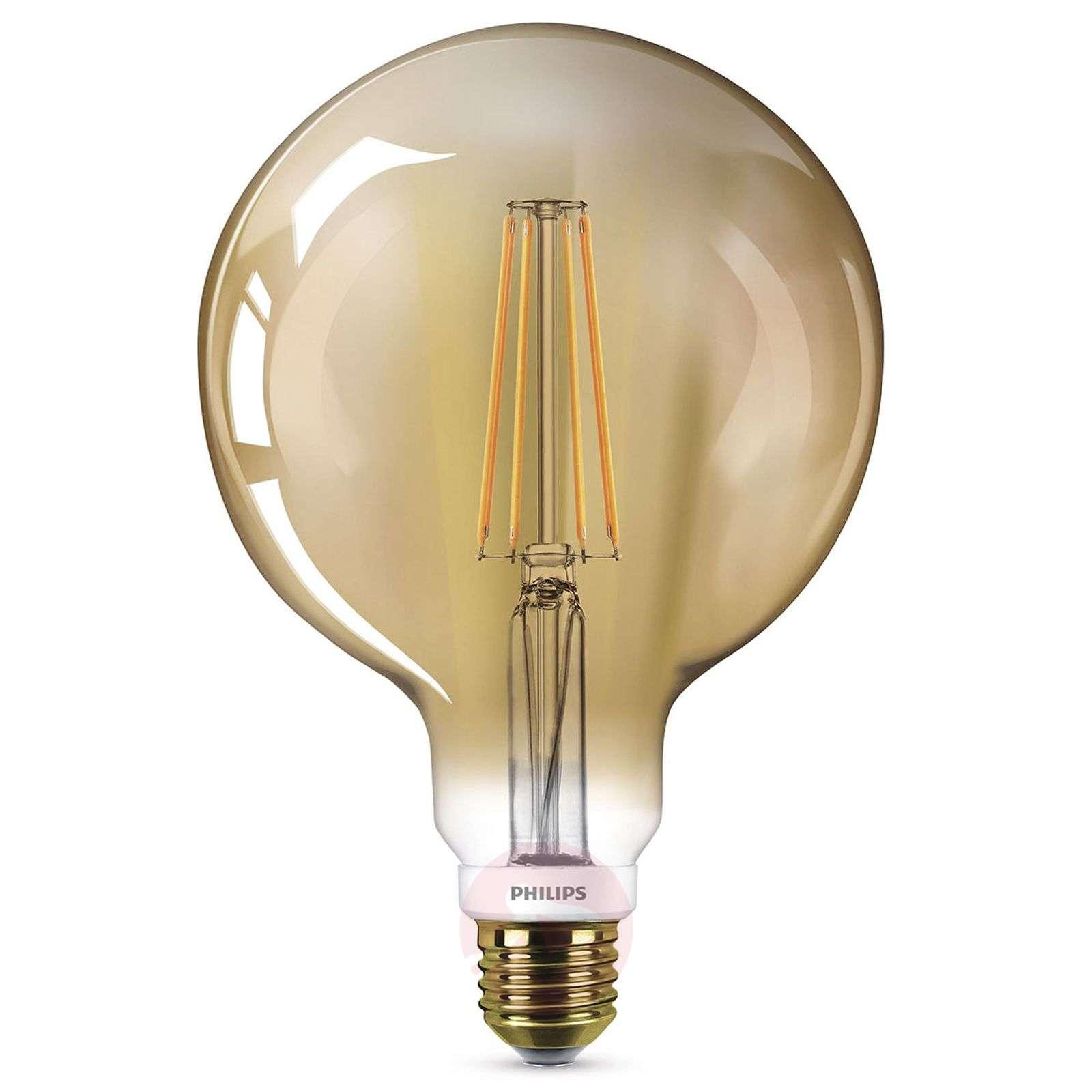E27 8W LED-filamenttipallolamppu, lämmin valkoinen-7530762-01