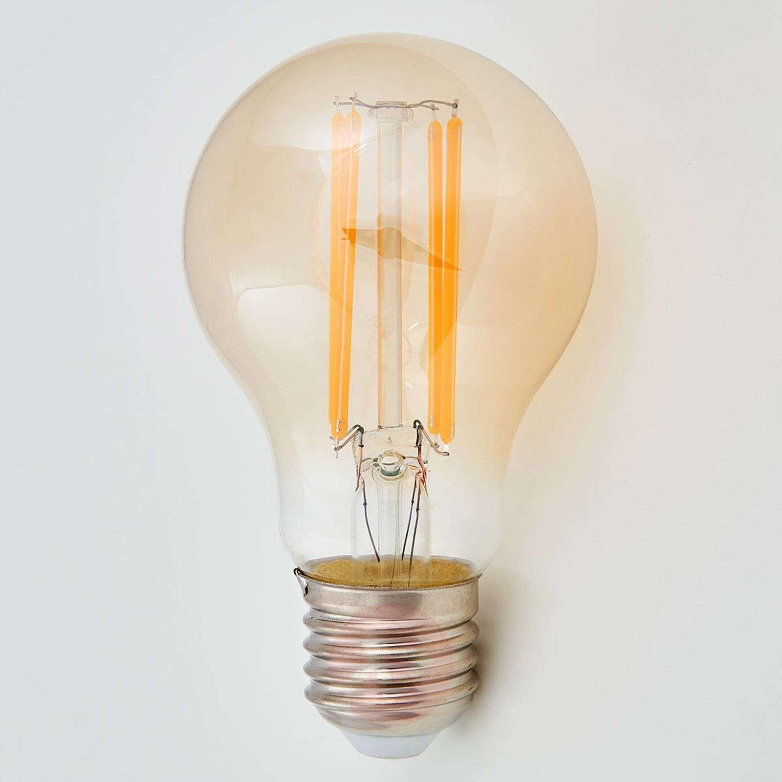 E27-LED-filamenttilamppu 6 W 500 lm ambra 2200 K-9993041-01
