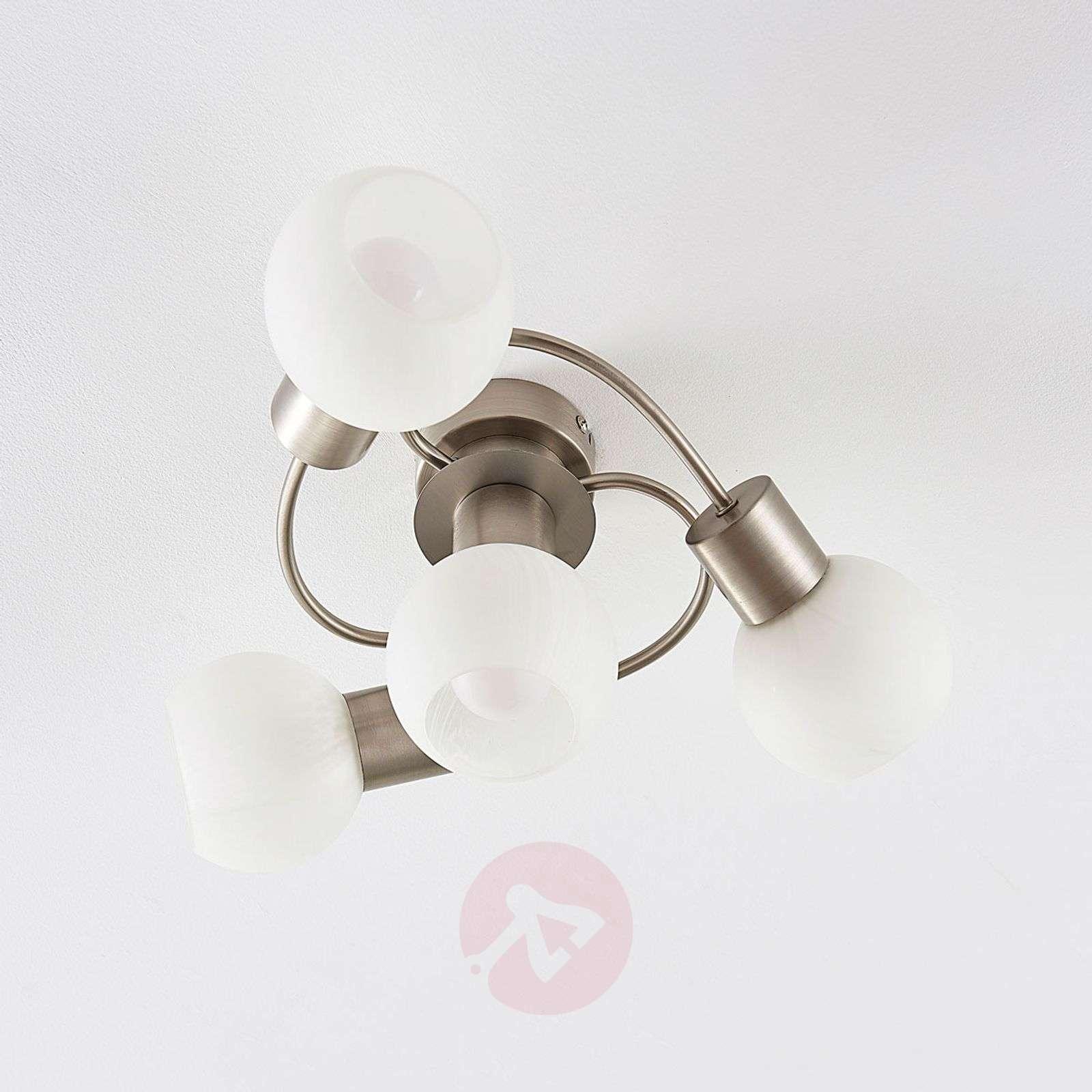 Easydim-LED-kattovalaisin Tanos, 4 valkoista lasia-9621571-02