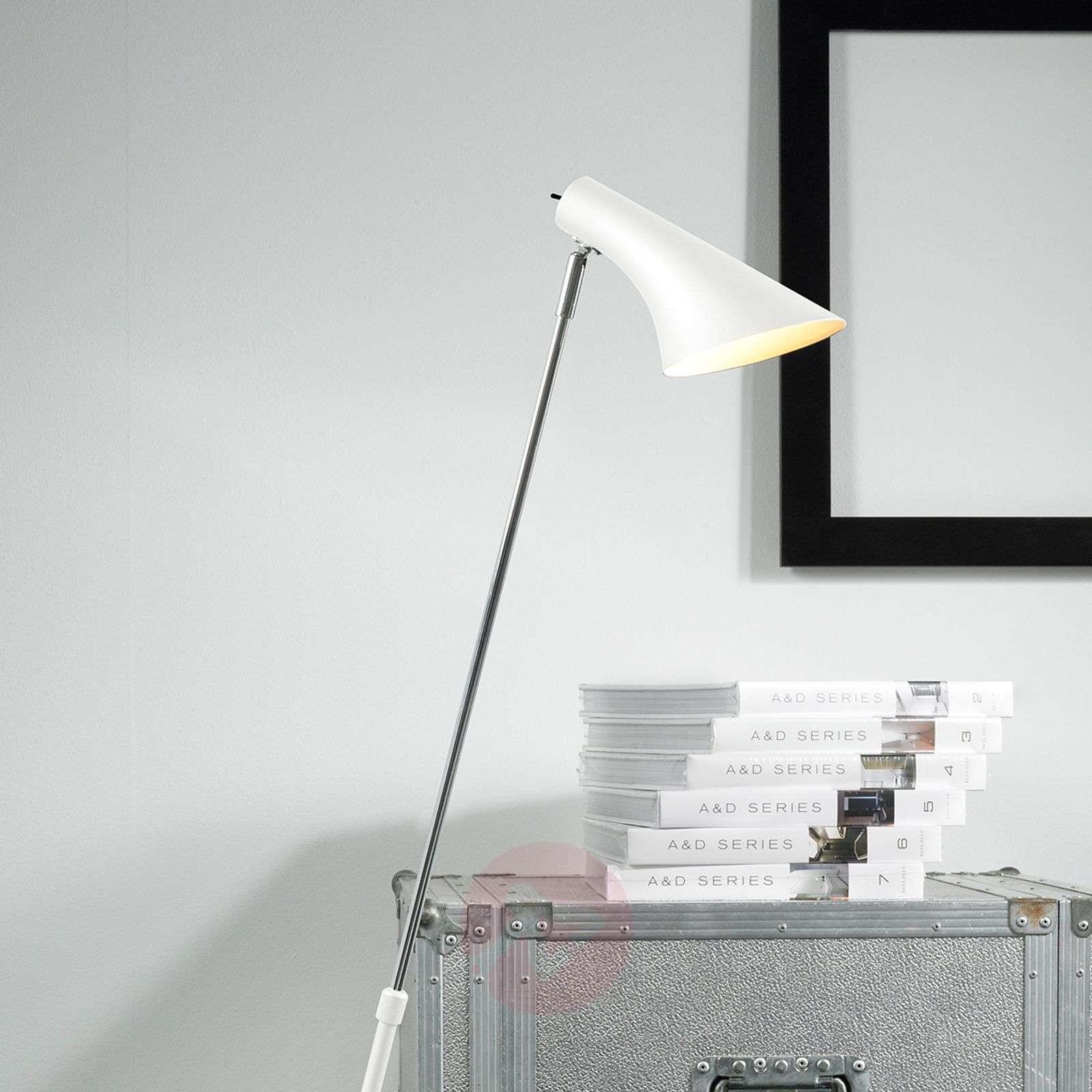 Elegantti joustava lattiavalaisin Liam valkoinen-7005625-02