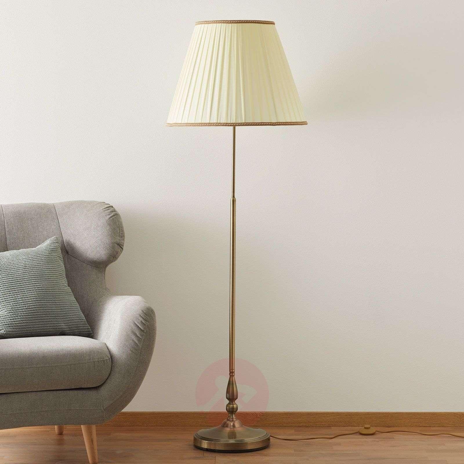 Elegantti ROSELLA-jalkalamppu, laskosvarjostin-7253208-01