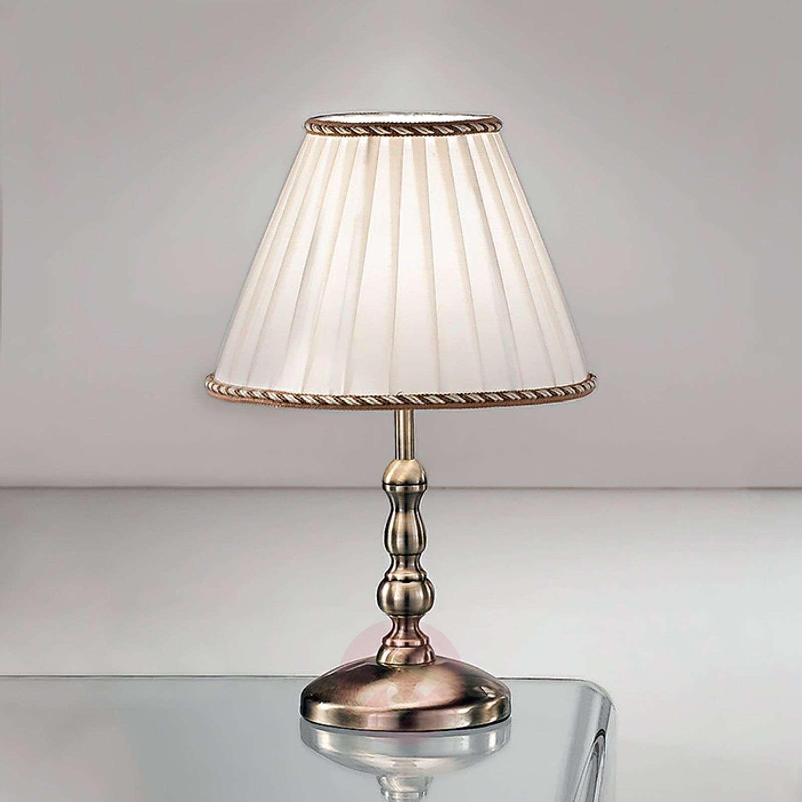 Elegantti ROSELLA-pöytälamppu, laskosvarjostin-7253206X-01