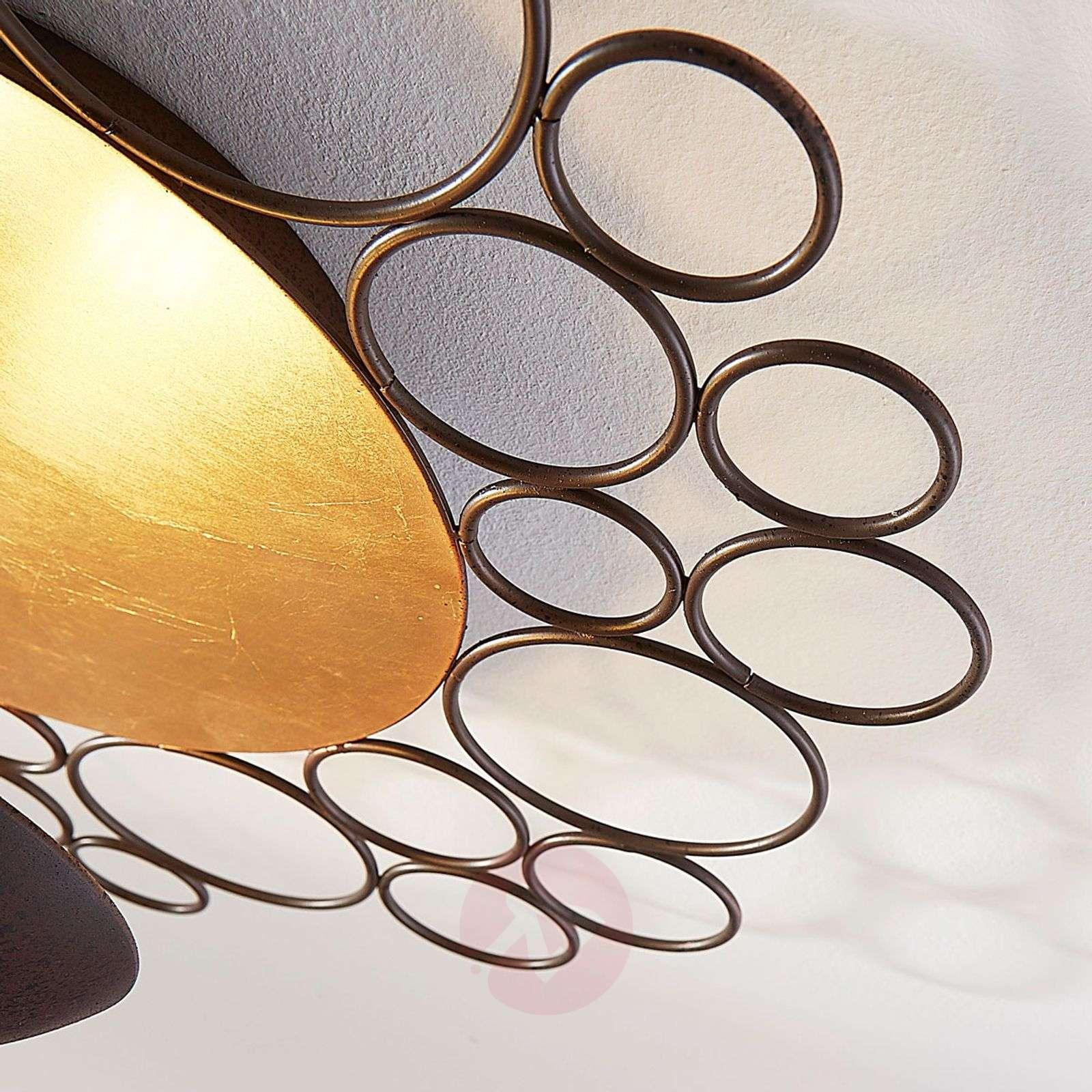 Epäsuora valaistus LED-kattolamppu Pinja ruoste-9621433-01