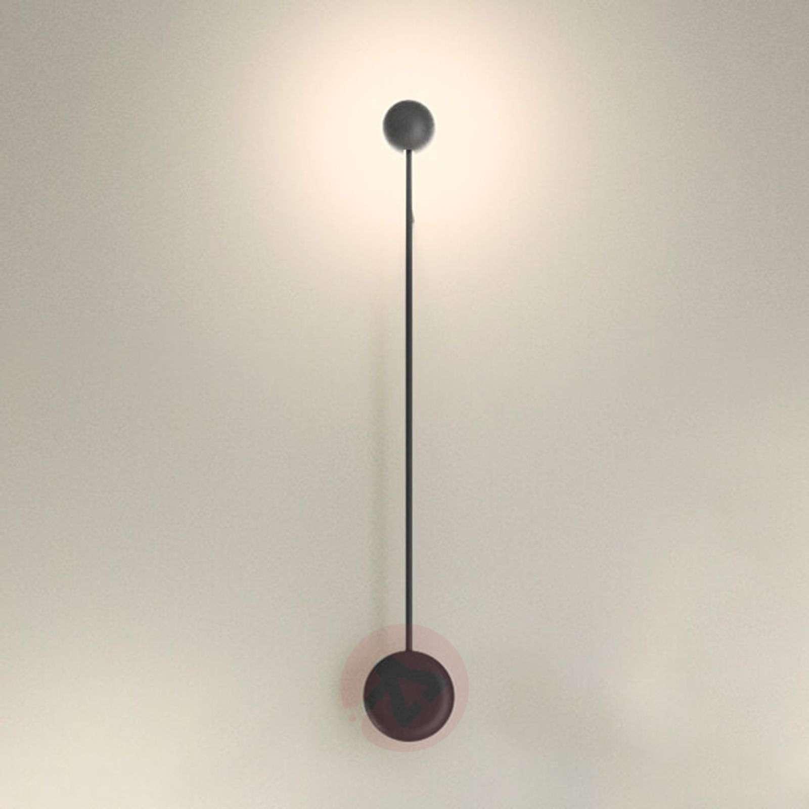 Epäsuorasti valaiseva LED-seinävalo Pin, musta-9515105-02
